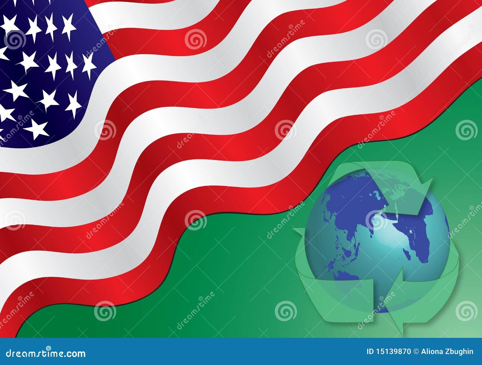 Bandeira americana - recicl o conceito
