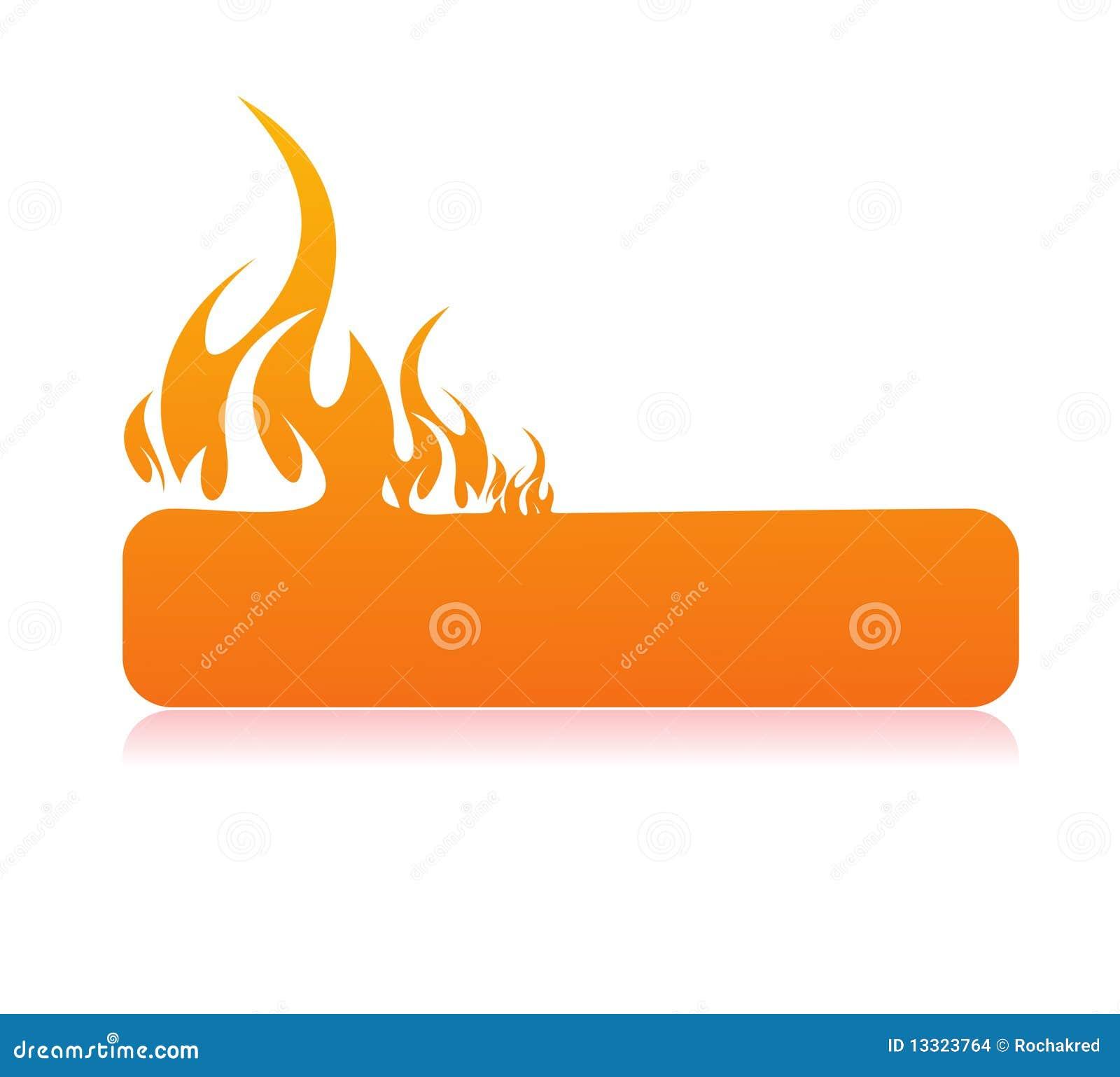Bandeira ardente da flama