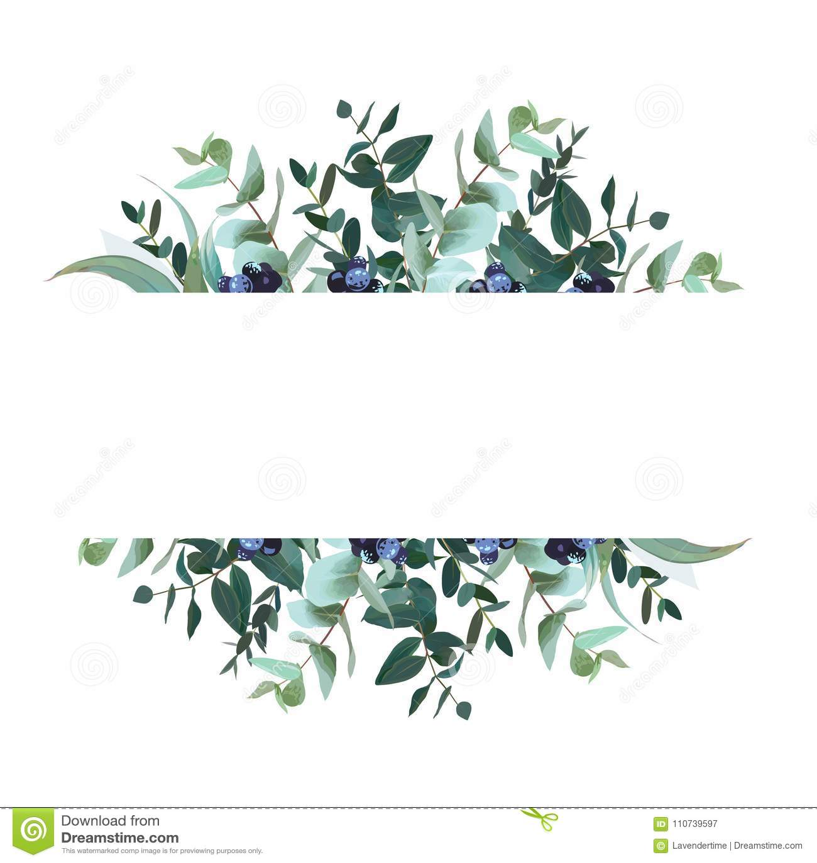 Bandeira botânica horizontal do projeto do vetor