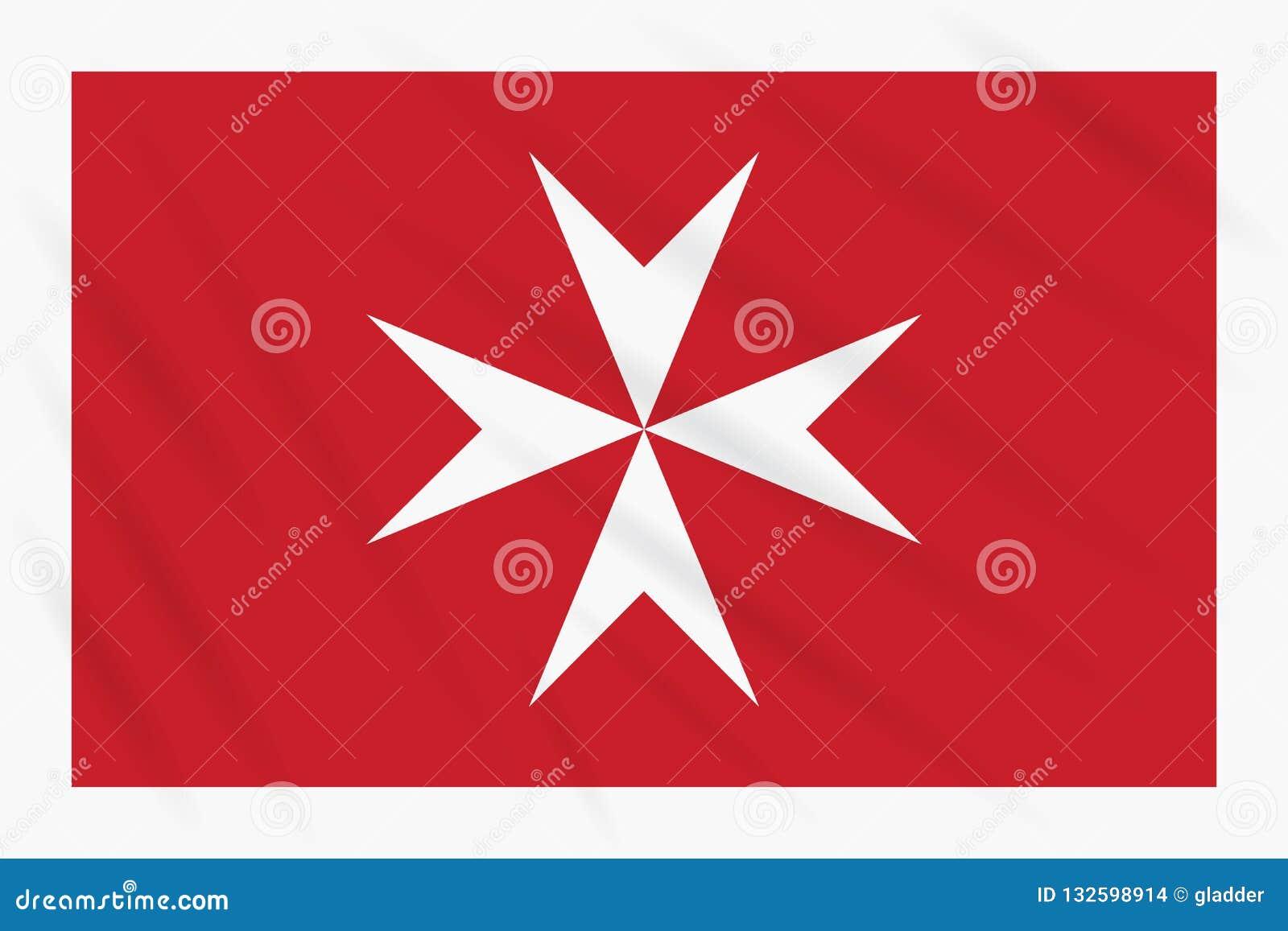 Bandeira civil de Malta que balança no vento, vetor
