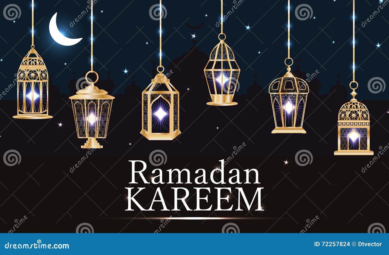 Bandeira clara roxa da lanterna da ramadã