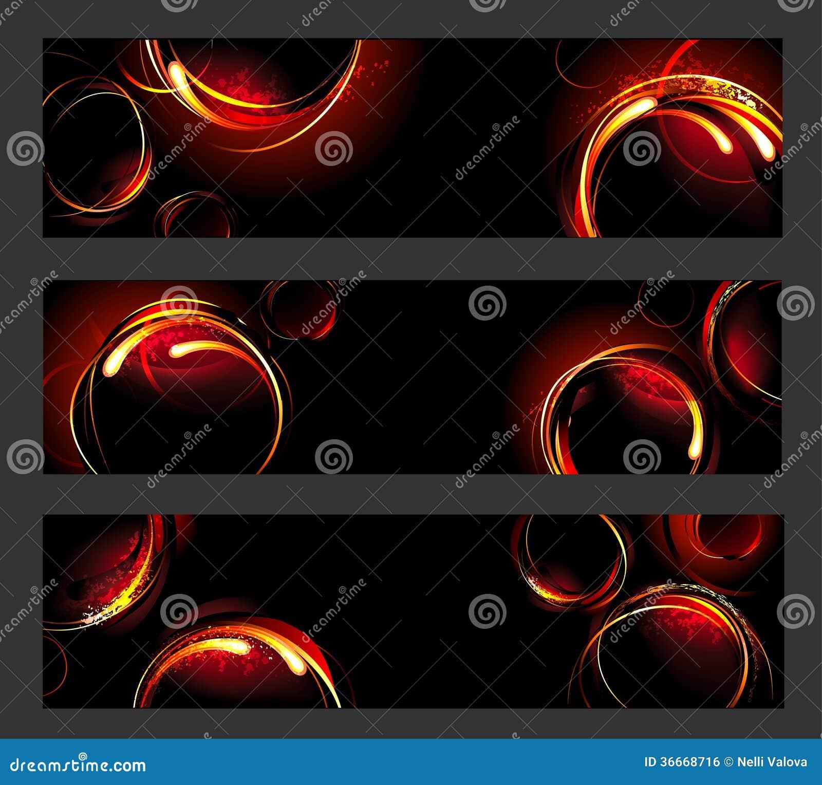 Bandeira com círculos do fogo