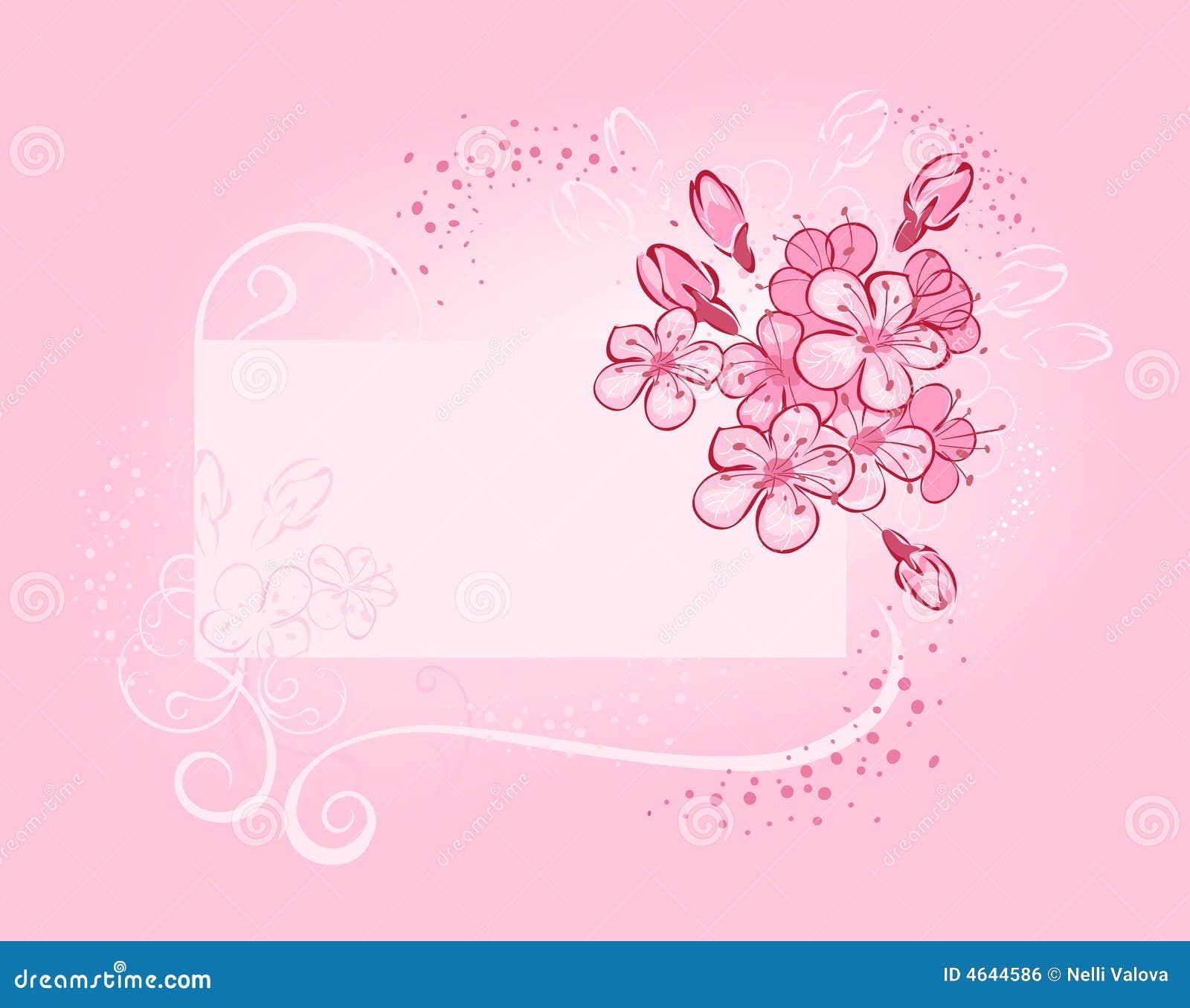 Bandeira com cereja de florescência