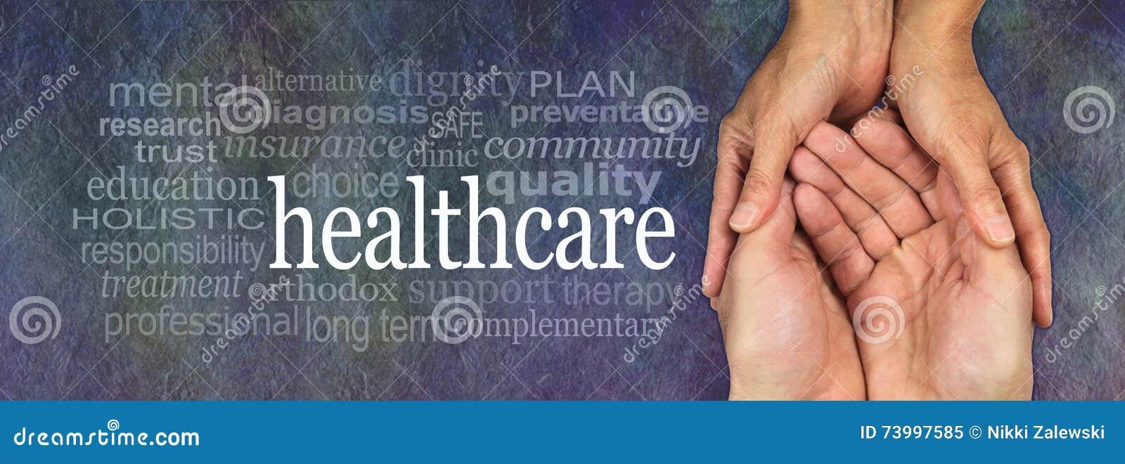Bandeira da campanha do trabalhador dos cuidados médicos