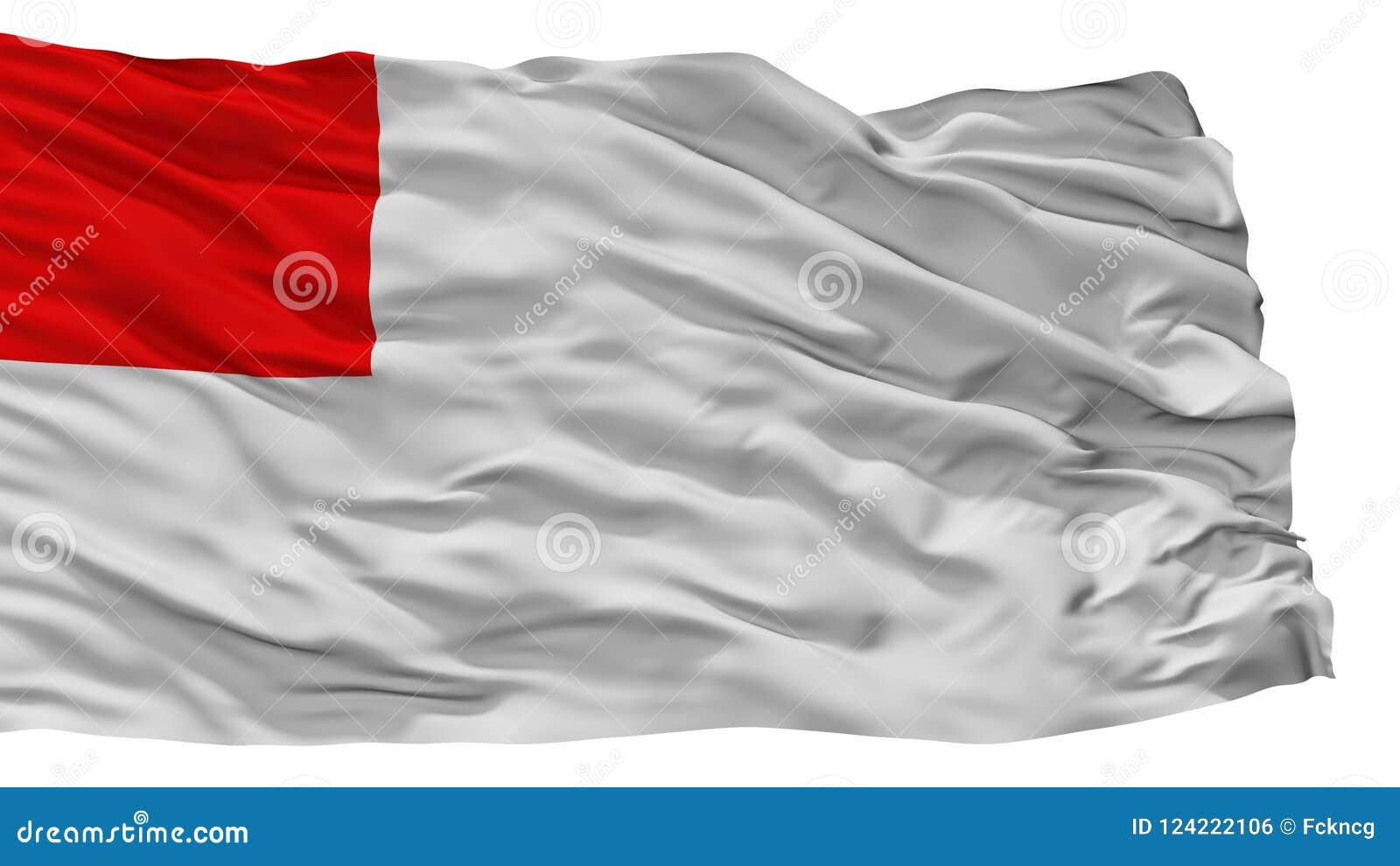Bandeira da cidade de Bilbao, Espanha, isolada no fundo branco