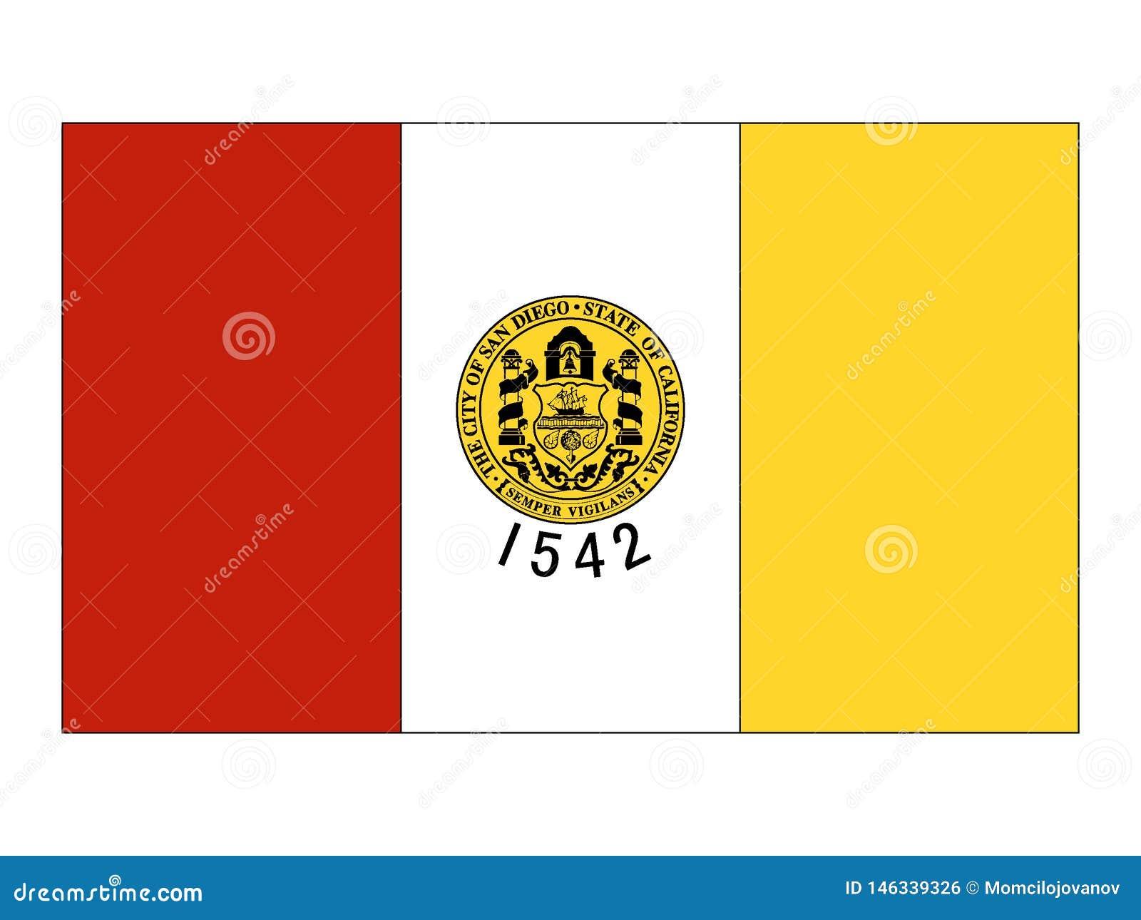 Bandeira da cidade dos EUA de San Diego, Califórnia