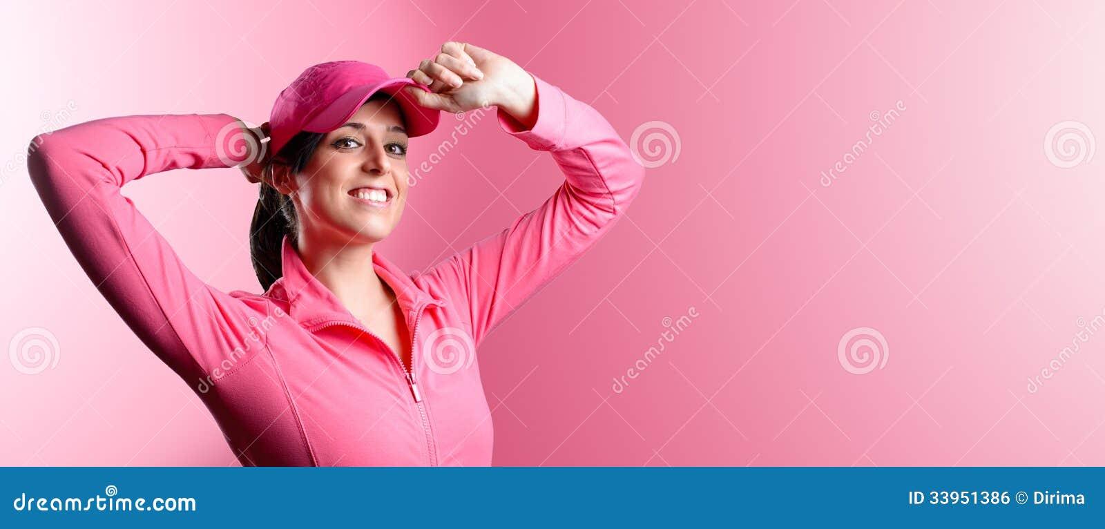 Bandeira da mulher da aptidão e do esporte