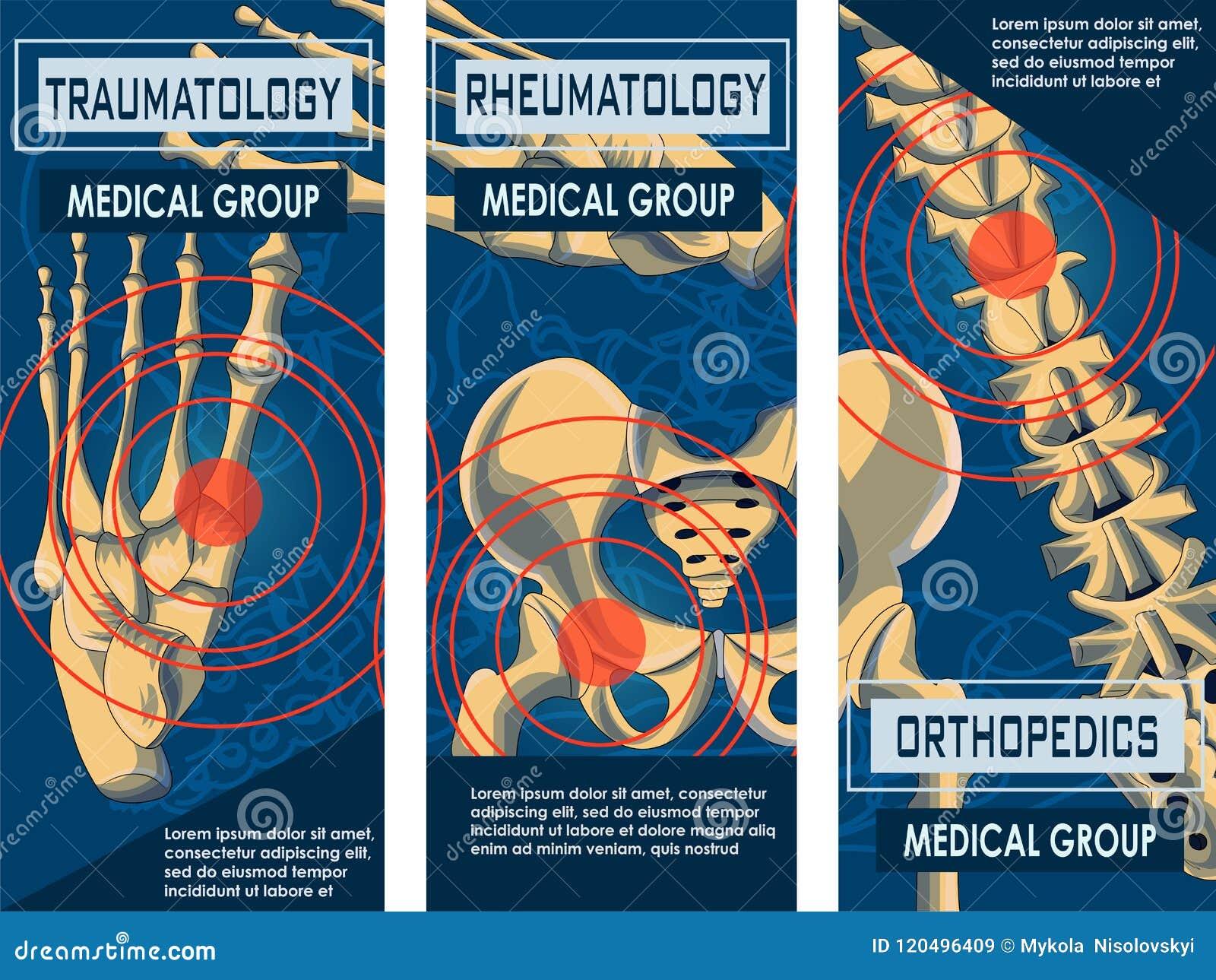Bandeira da reumatologia, da ortopedia e do Traumatology