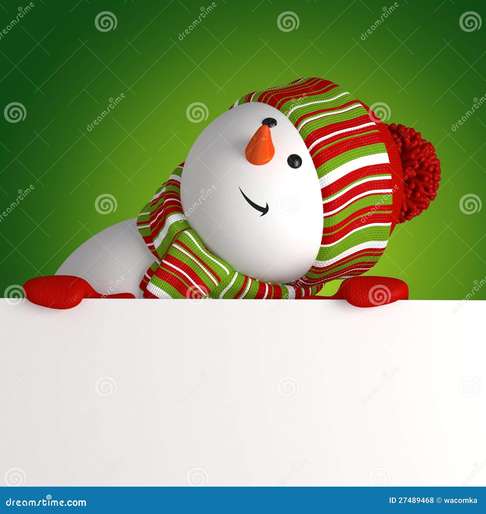 Bandeira da terra arrendada do boneco de neve
