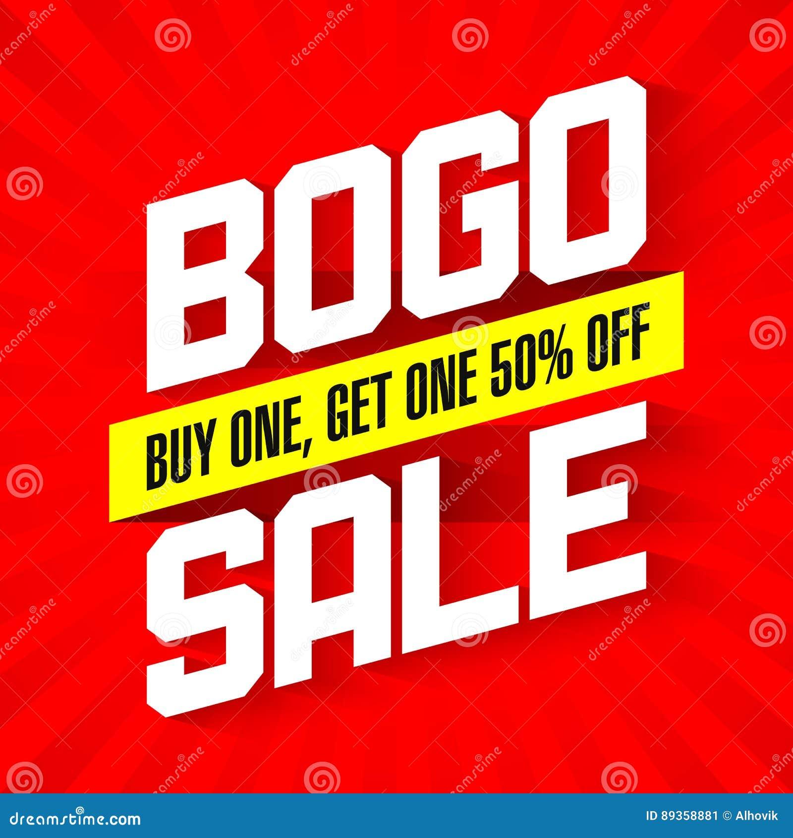 Bandeira da venda de BOGO