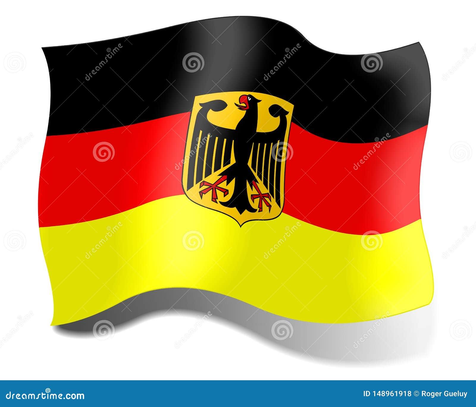 Bandeira de Alemanha em um fundo branco