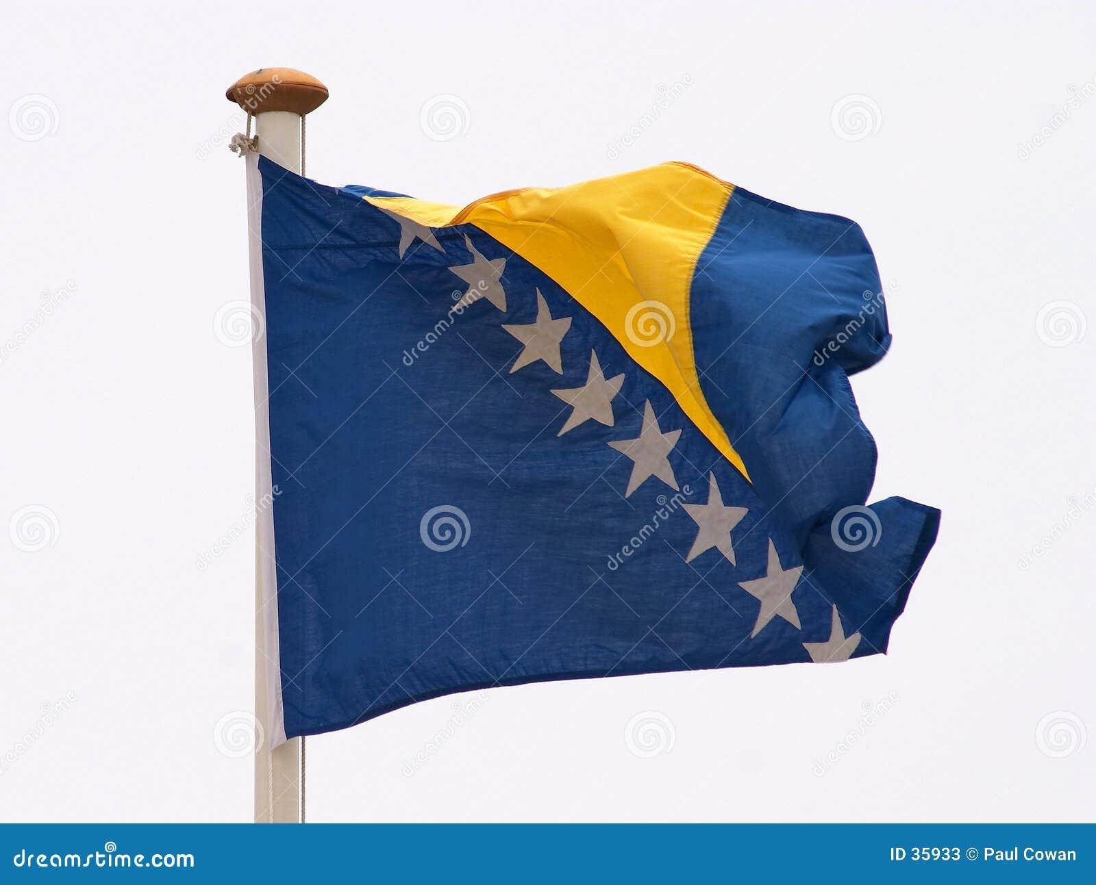 Bandeira de Bósnia - de Herzegovina