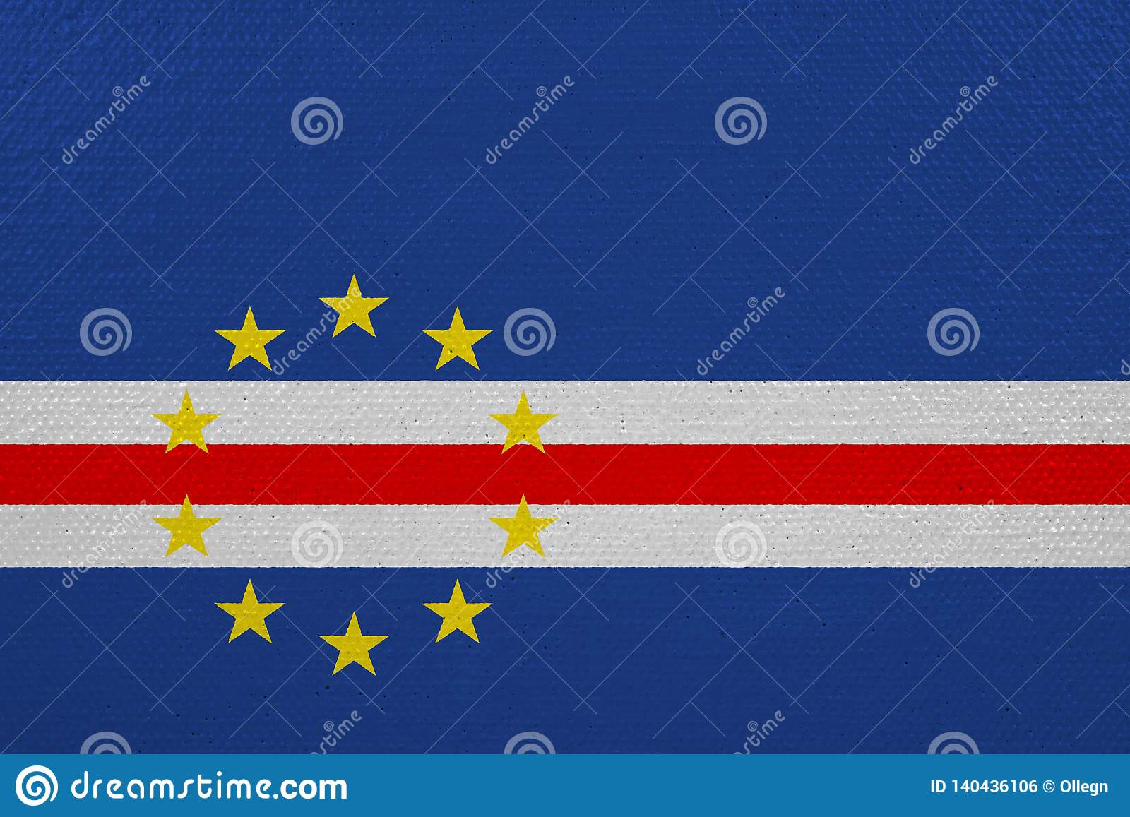 Bandeira de Cabo Verde na lona