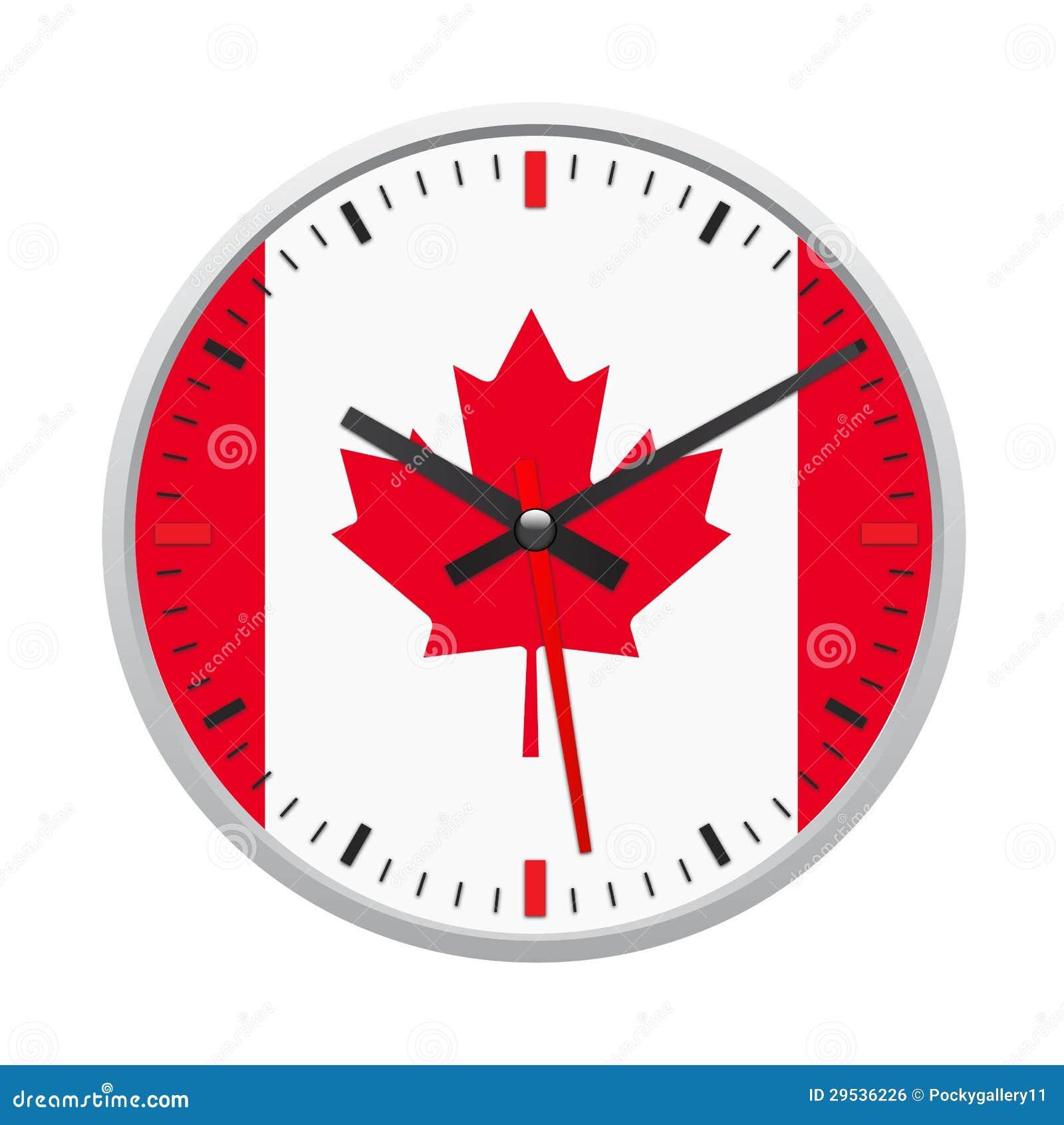 Bandeira de Canadá no pulso de disparo