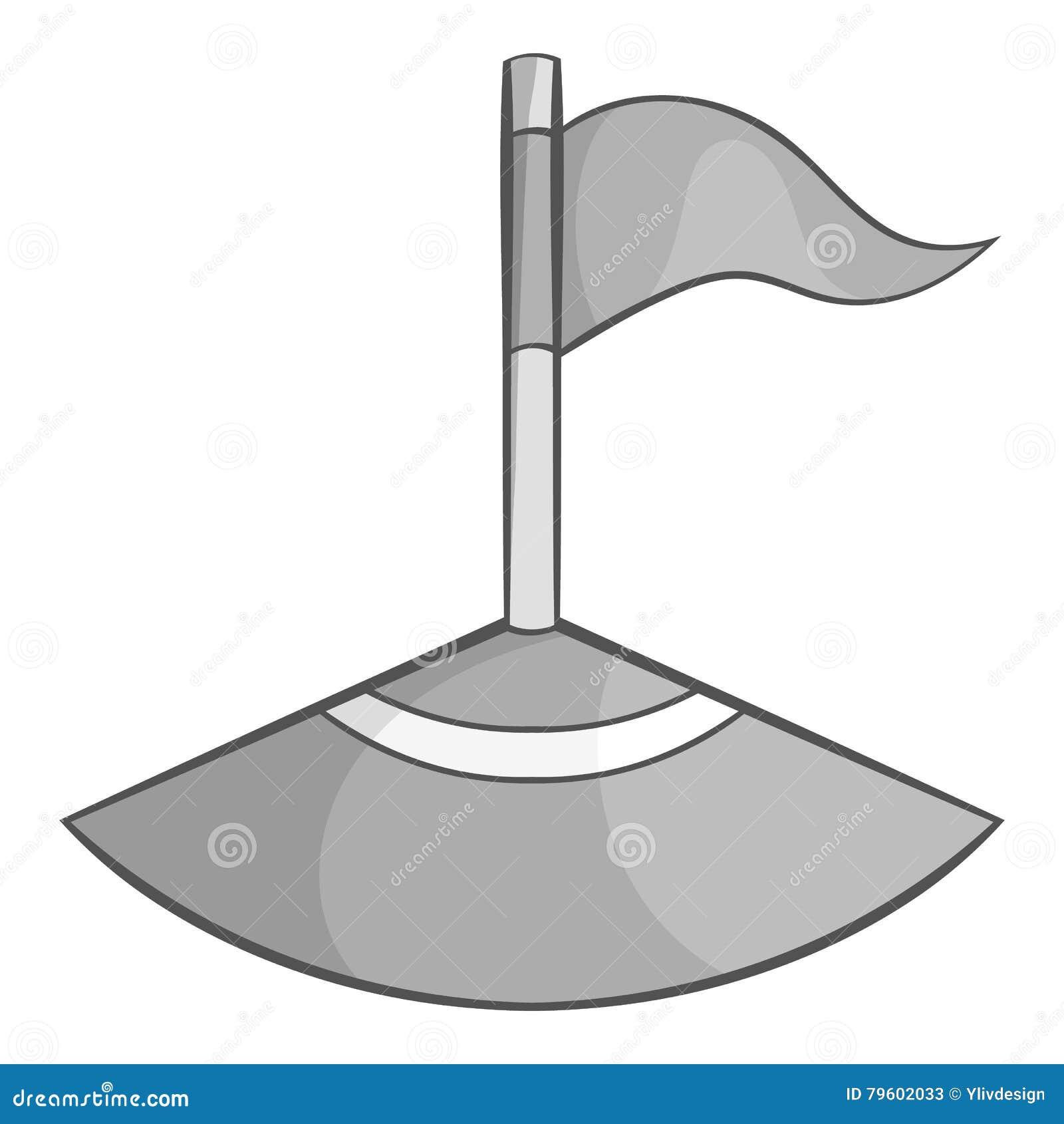 Bandeira de canto no ícone do campo de futebol