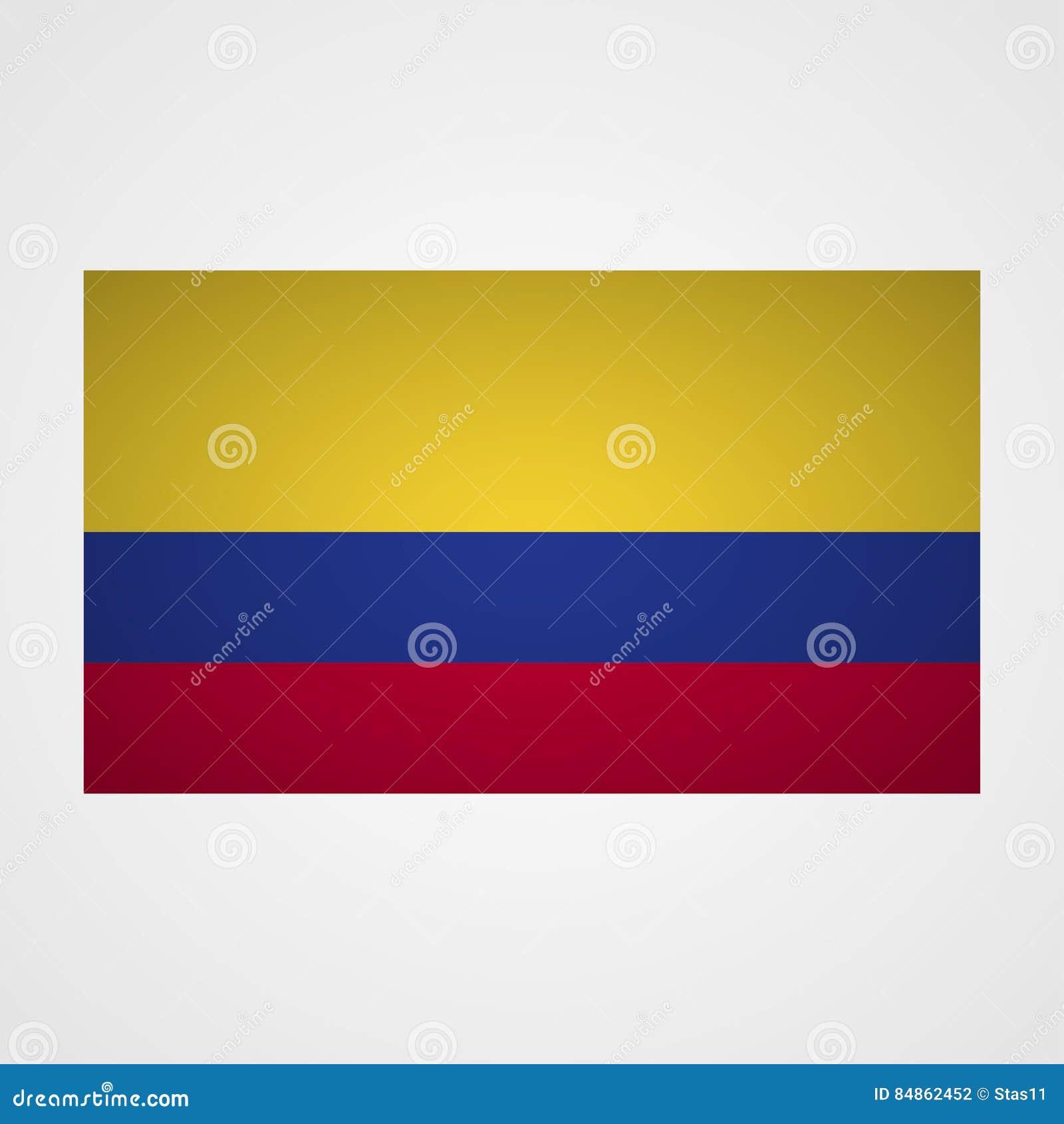 Bandeira de Colômbia em um fundo cinzento Ilustração do vetor