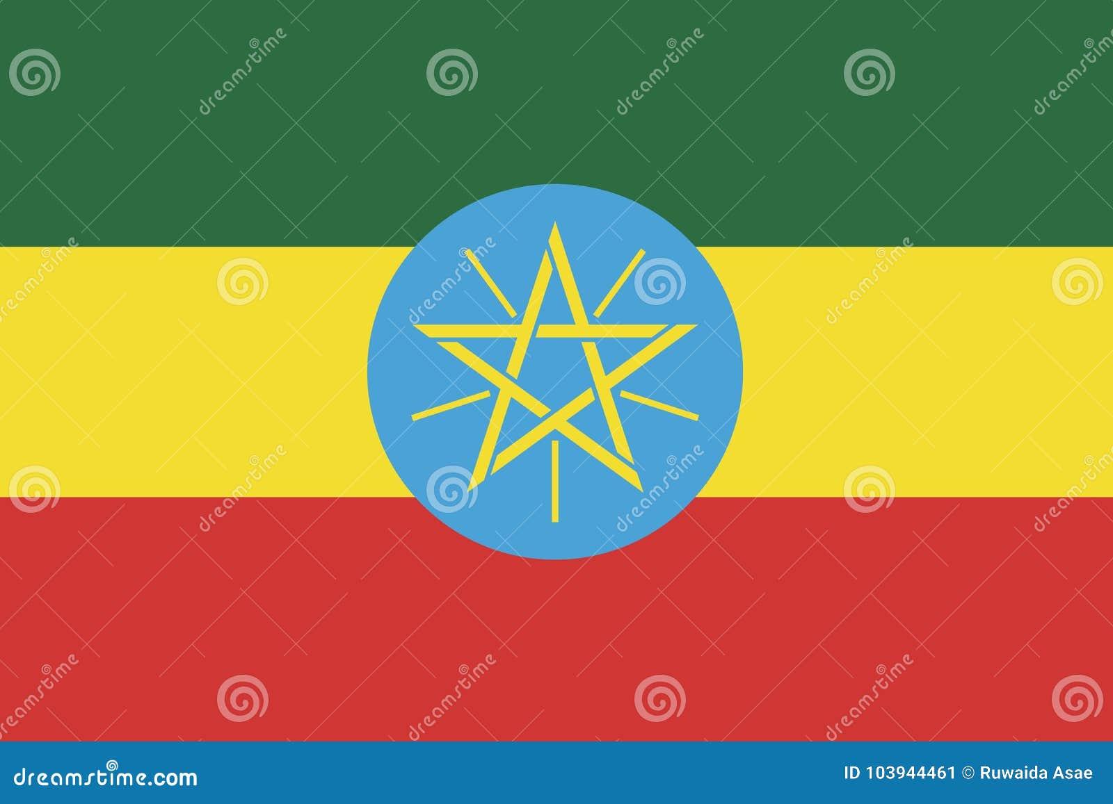 Bandeira bandeira de Etiópia, Etiópia do vetor