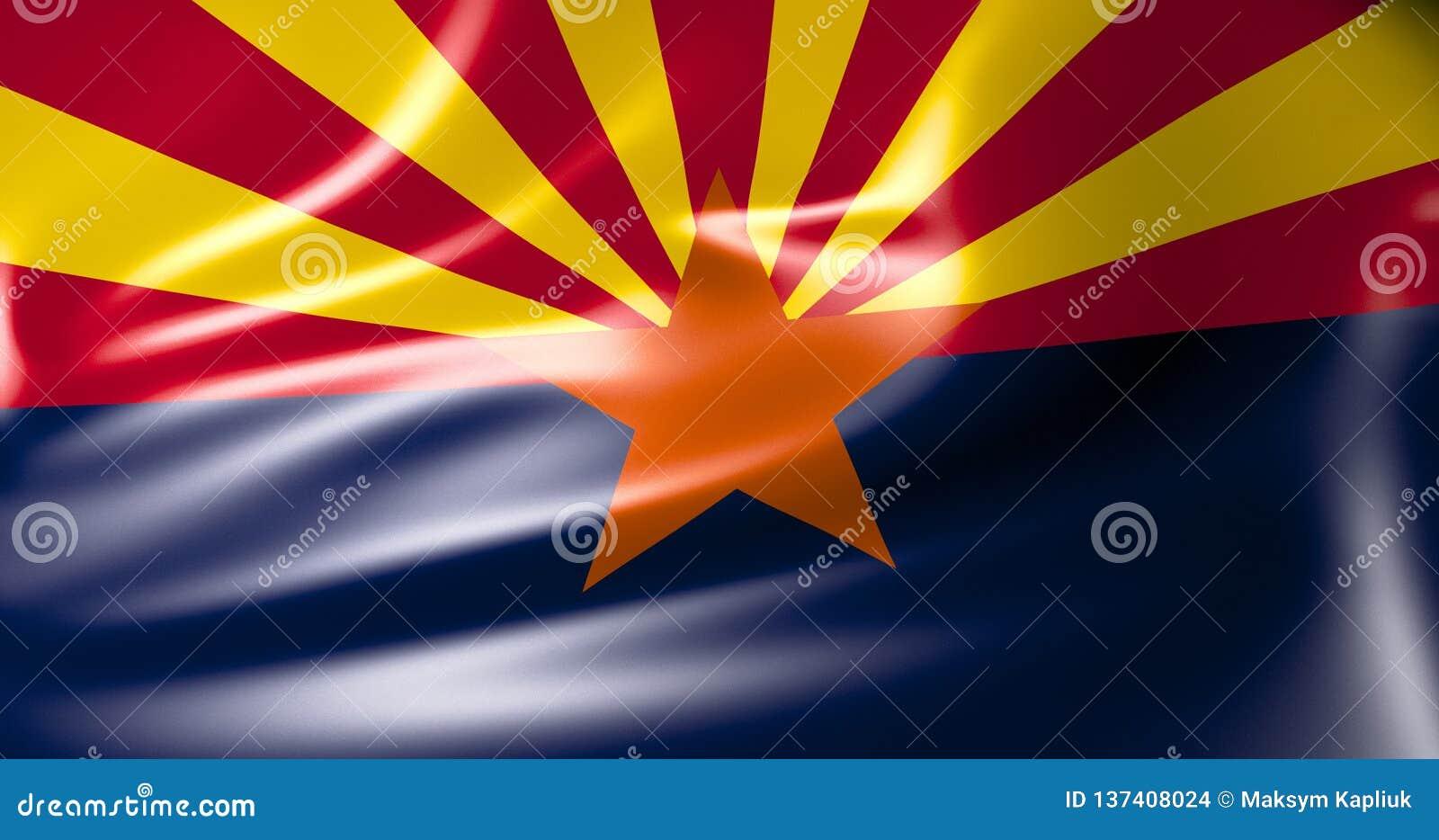 Bandeira de Florida Estados Unidos da América ilustração 3D