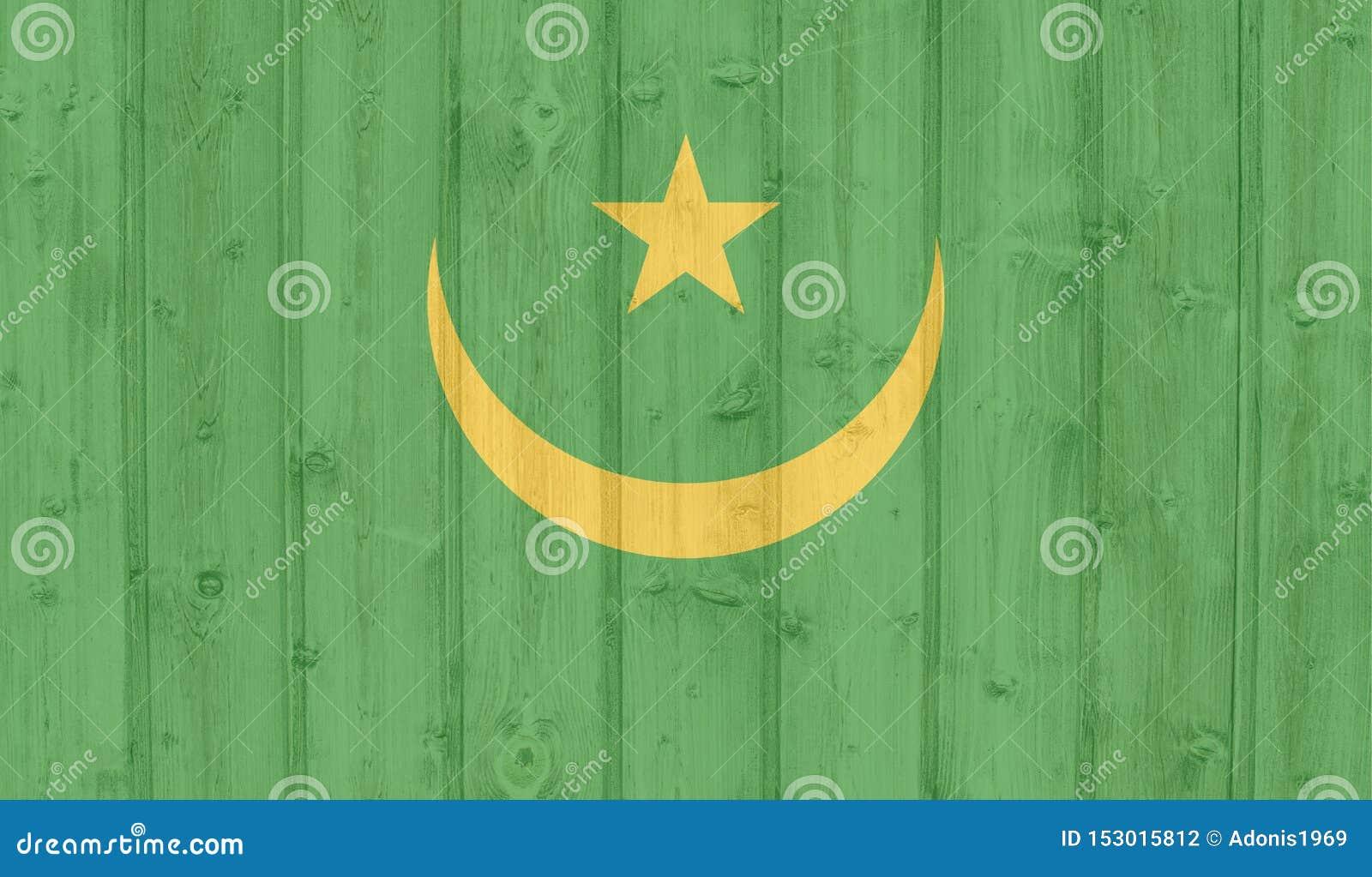 Bandeira de Grunge Maurit?nia