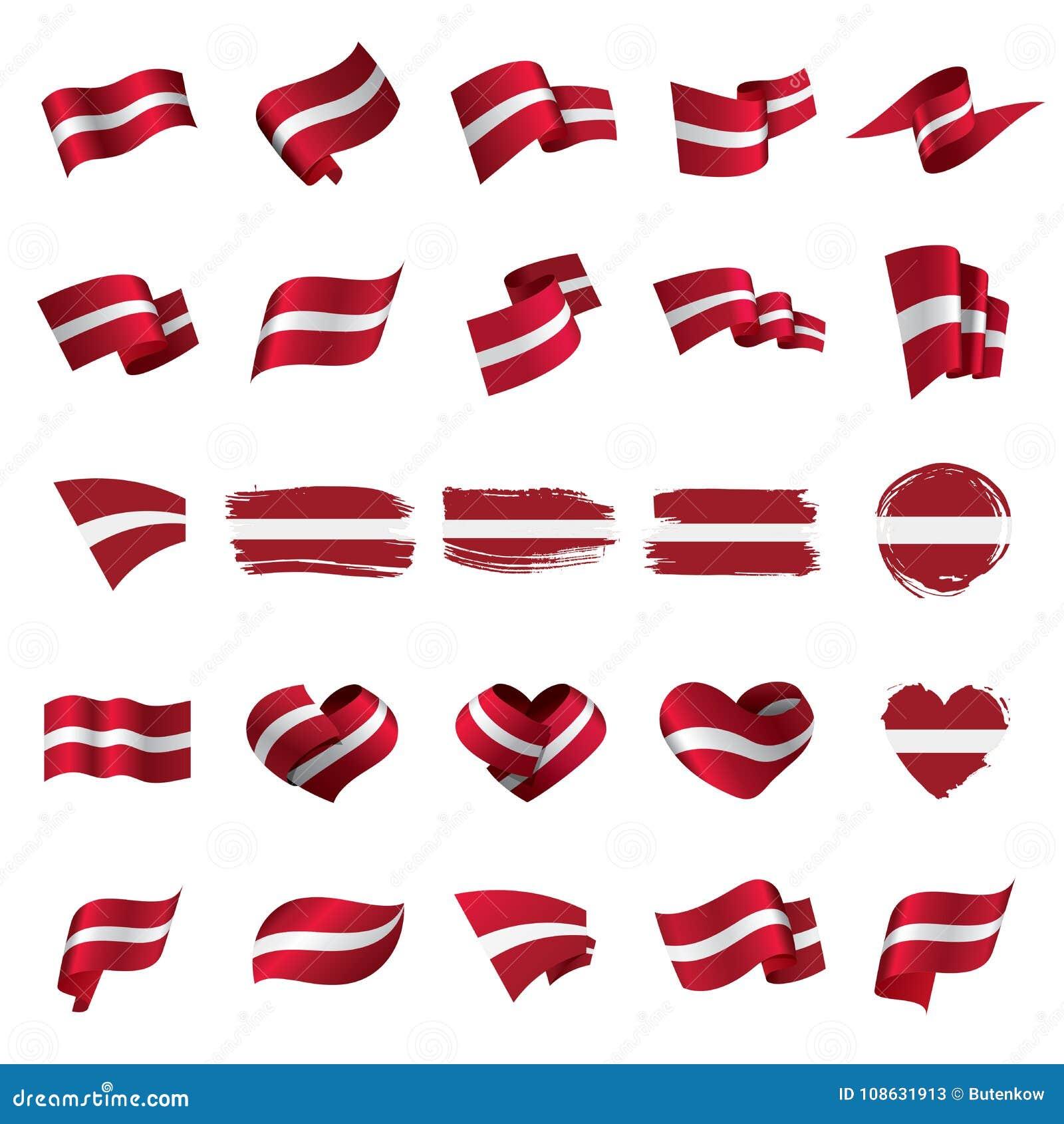 bandeira de letónia ilustração do vetor ilustração do vetor