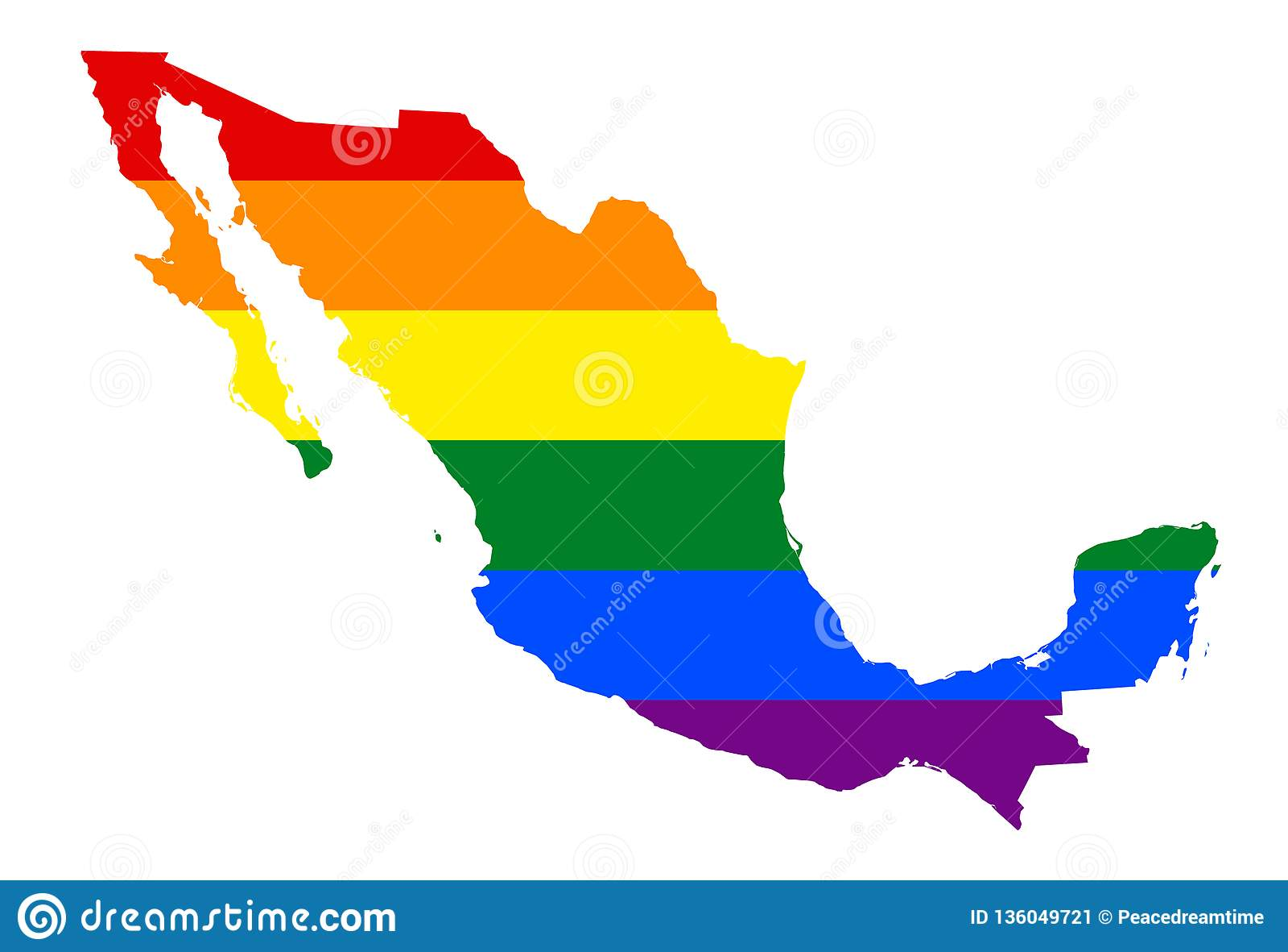 Bandeira de LGBT lésbica, alegre, bissexual, e do transgender do orgulho