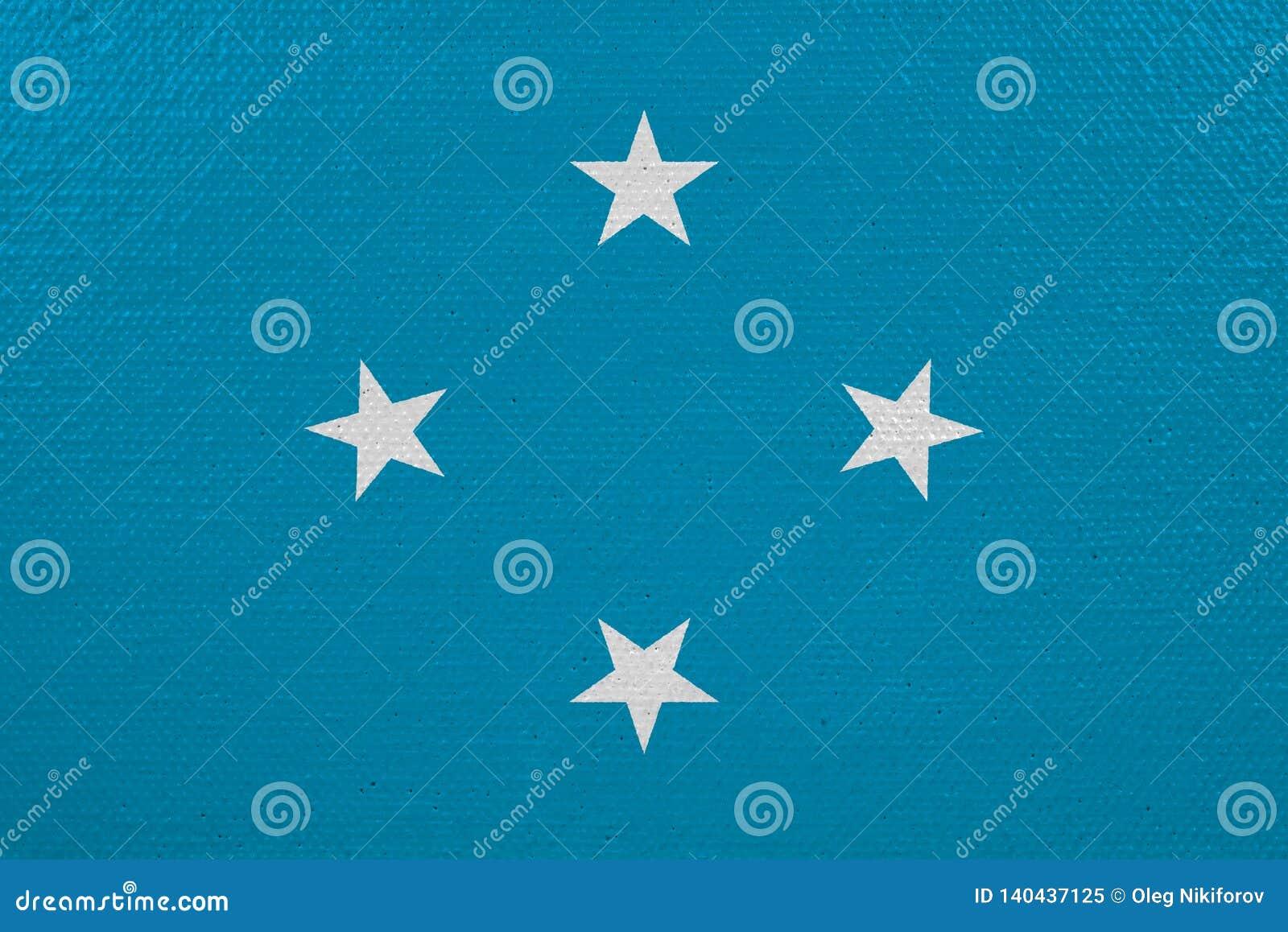 Bandeira de Micronésia na lona