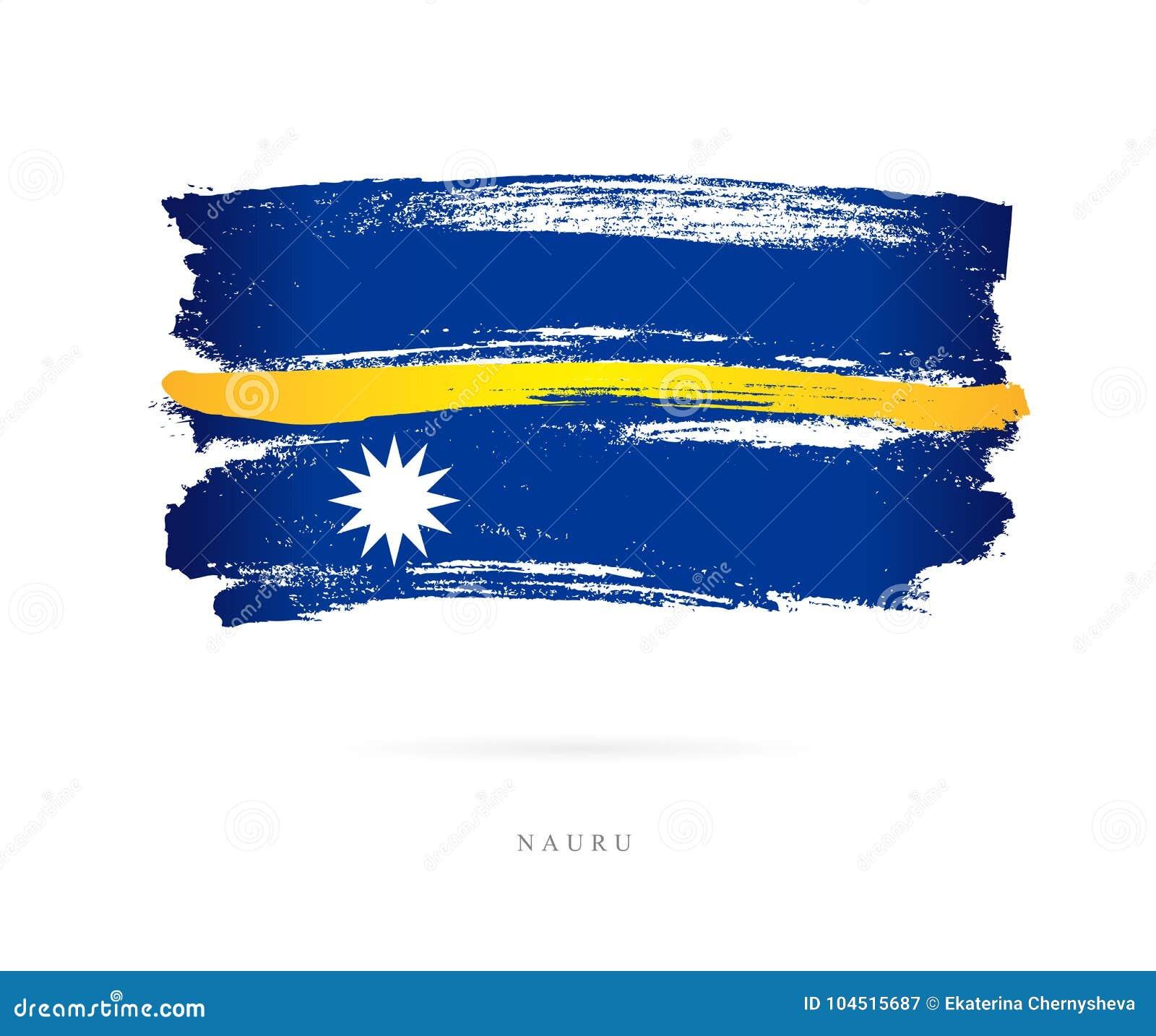 Bandeira de Nauru Conceito abstrato