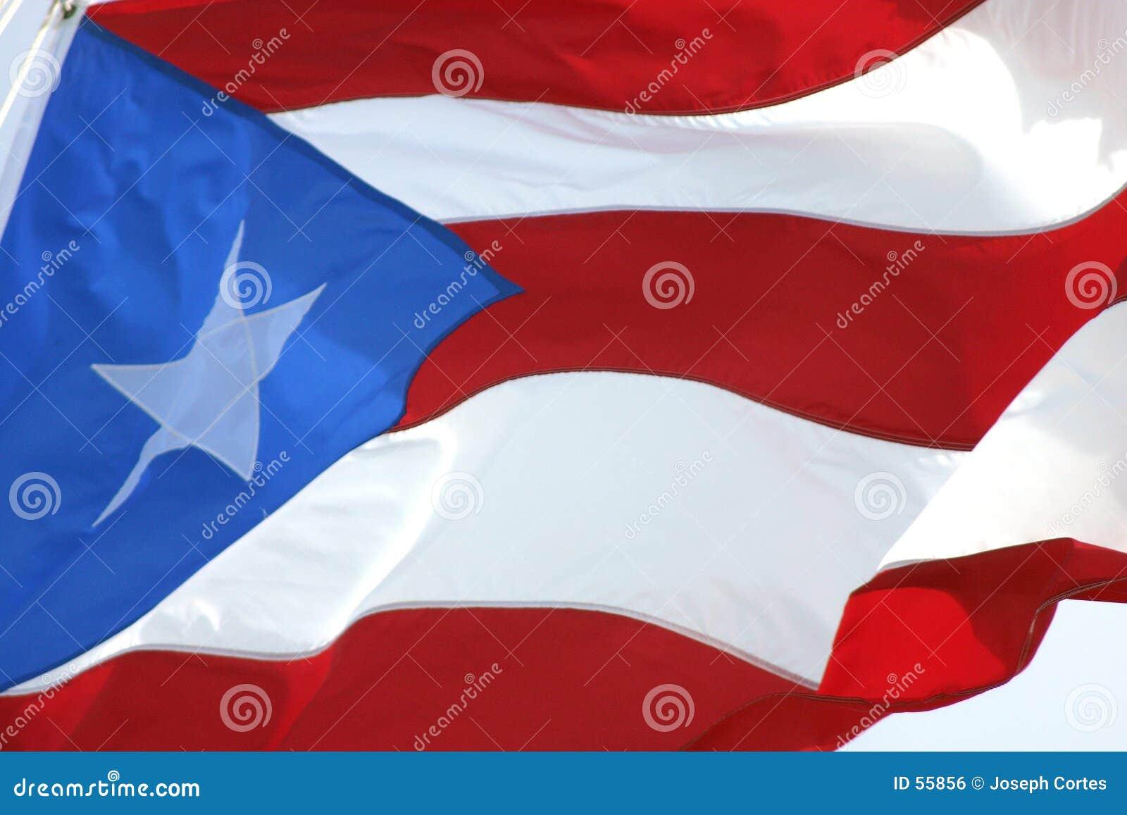 Bandeira de ondulação de Puertorrican