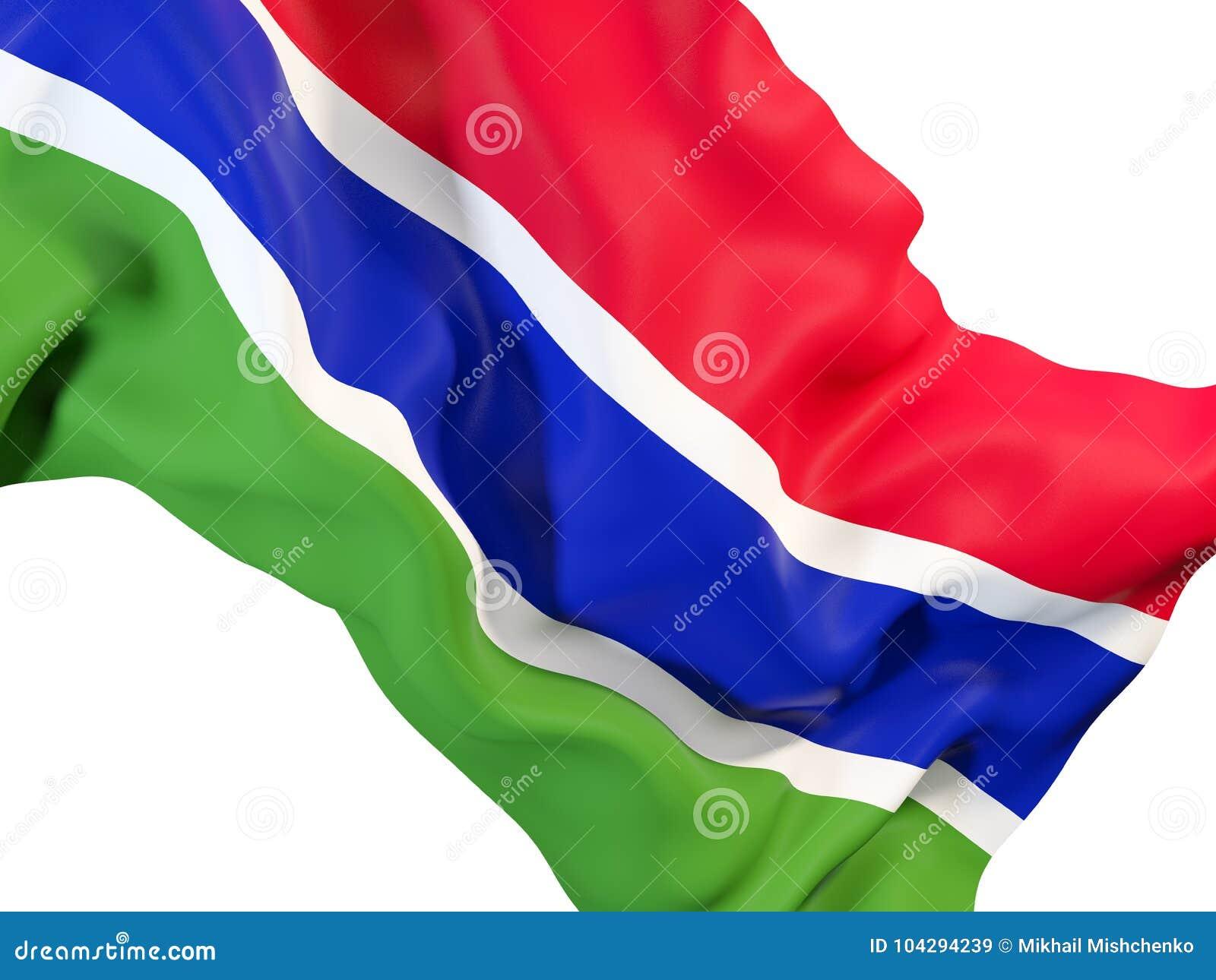 Bandeira de ondulação de gambia