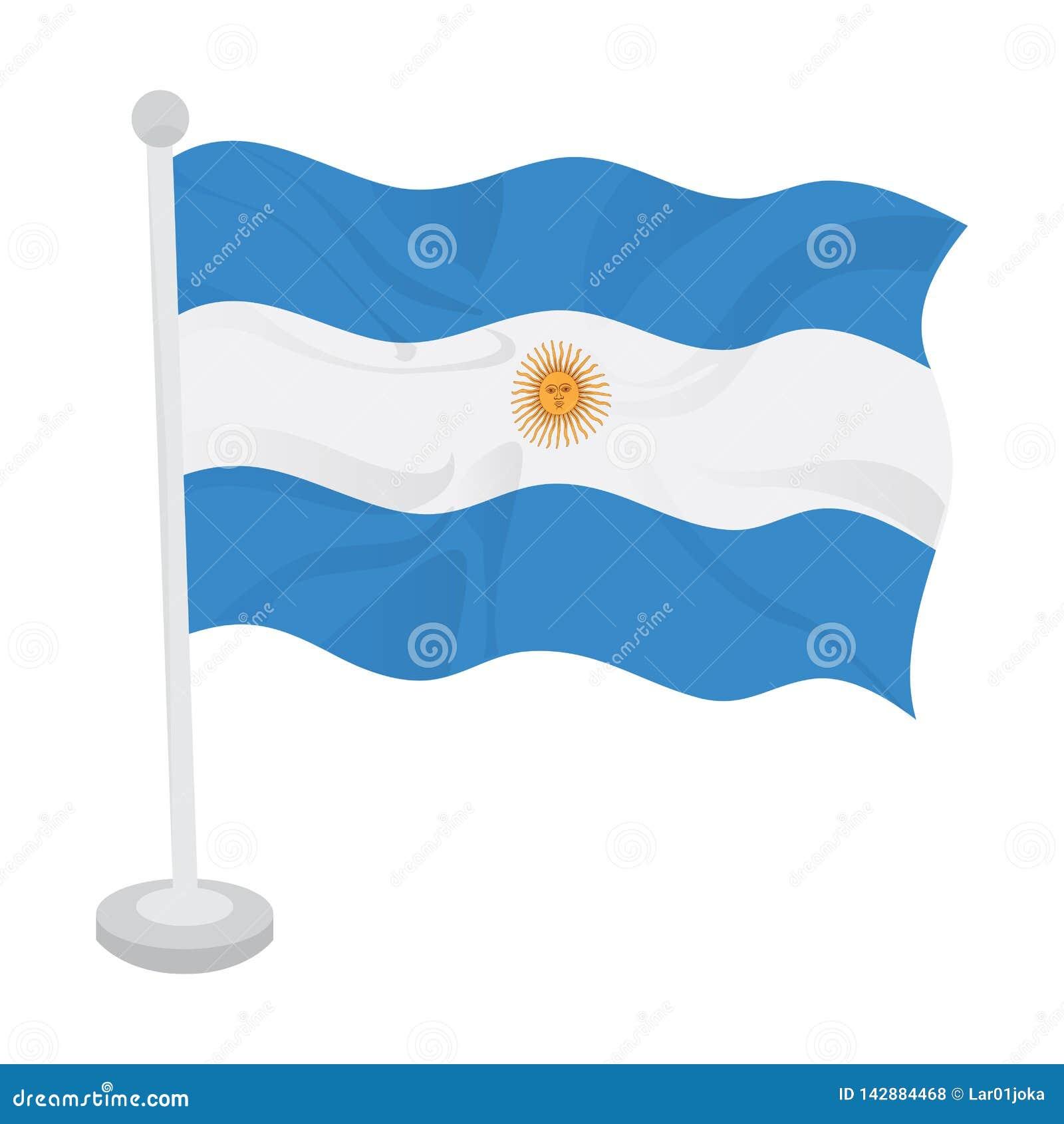 Bandeira de ondula??o de Argentina
