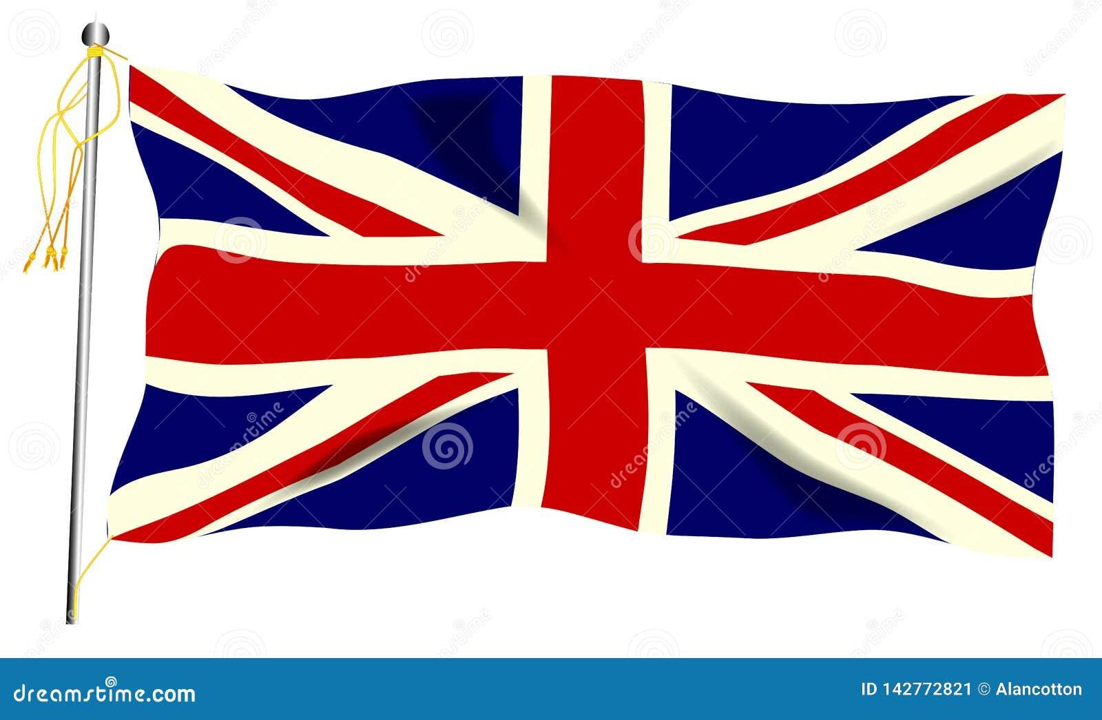 Bandeira de ondula??o de Union Jack