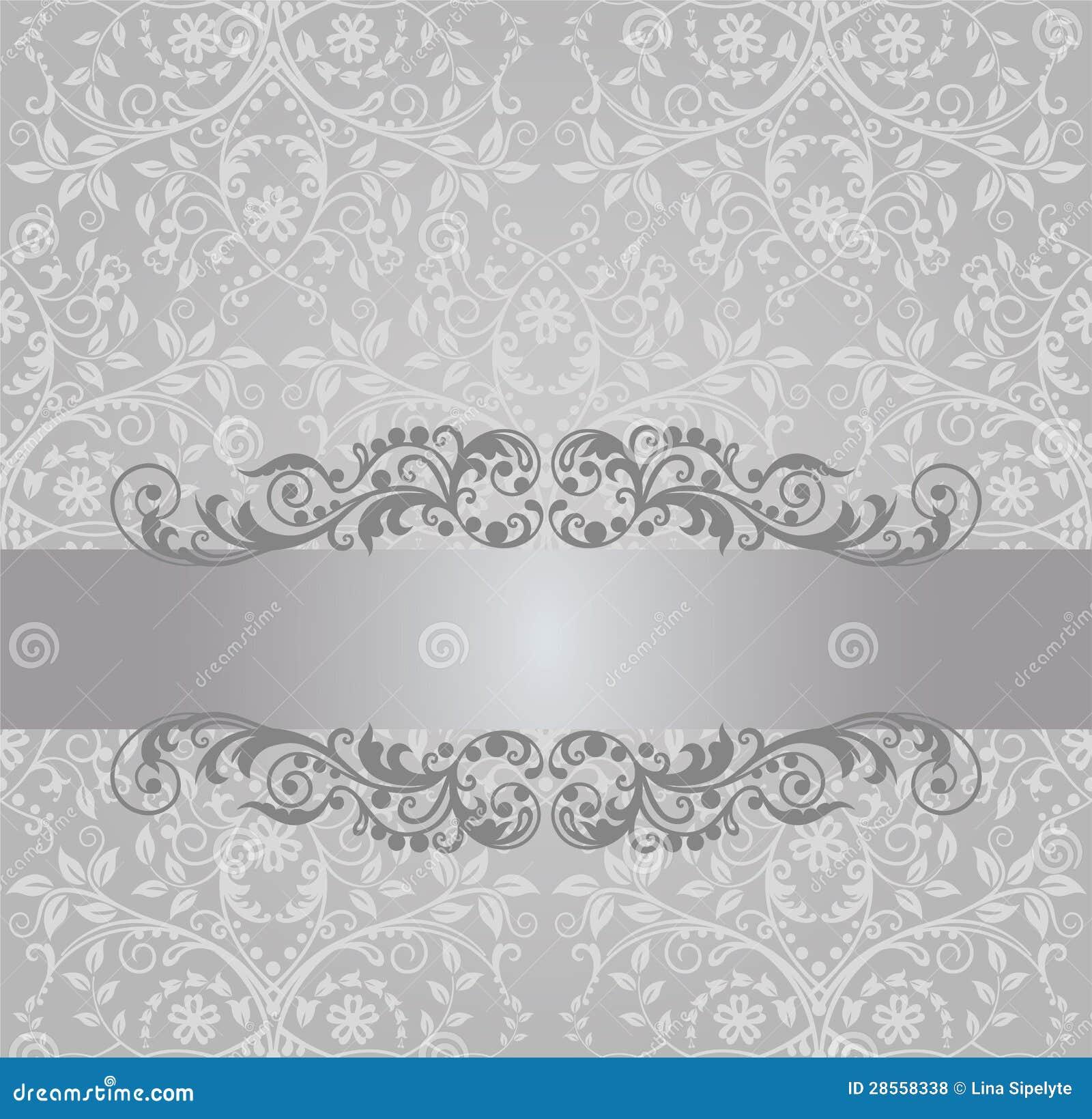 Bandeira de prata sem emenda do papel de parede e do - Papel pared vintage ...