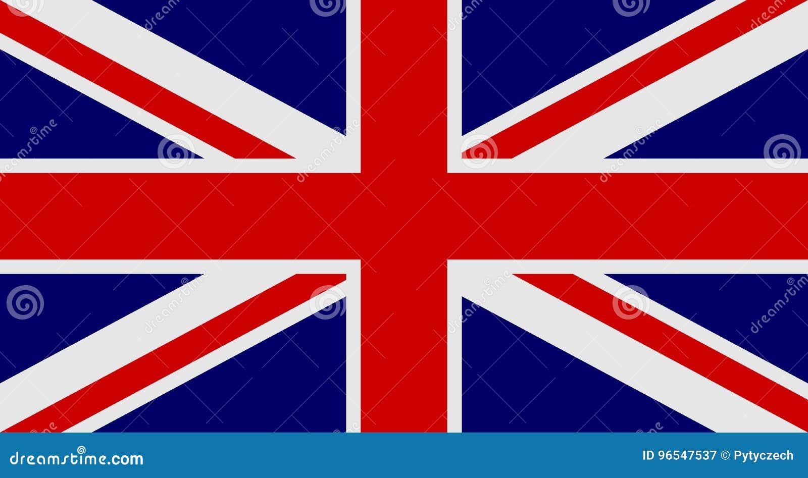 Bandeira de Reino Unido da Grã Bretanha e da Irlanda do Norte Bandeira BRITÂNICA aka Union Jack Ilustração do vetor
