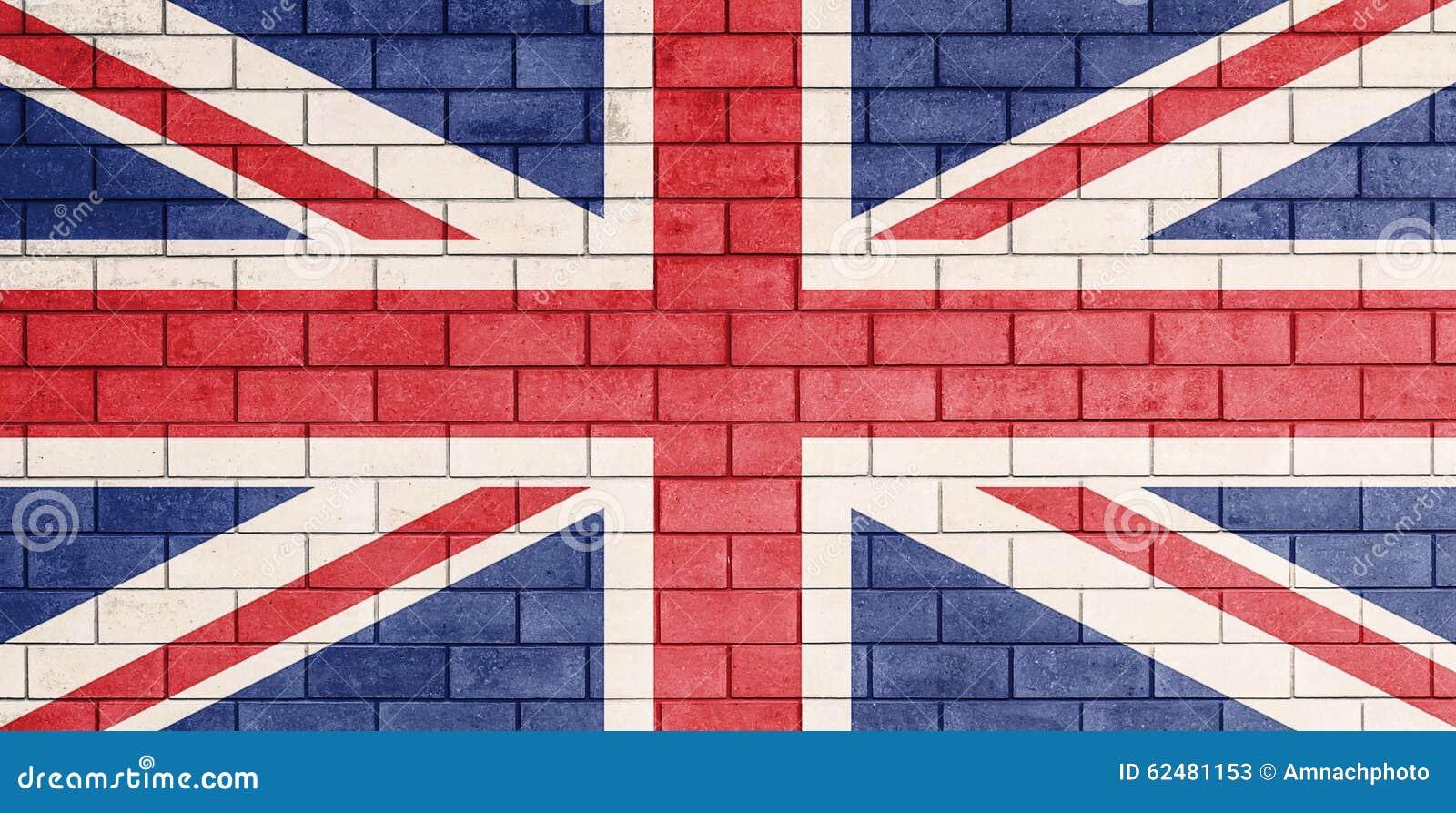 A bandeira de Reino Unido pintou