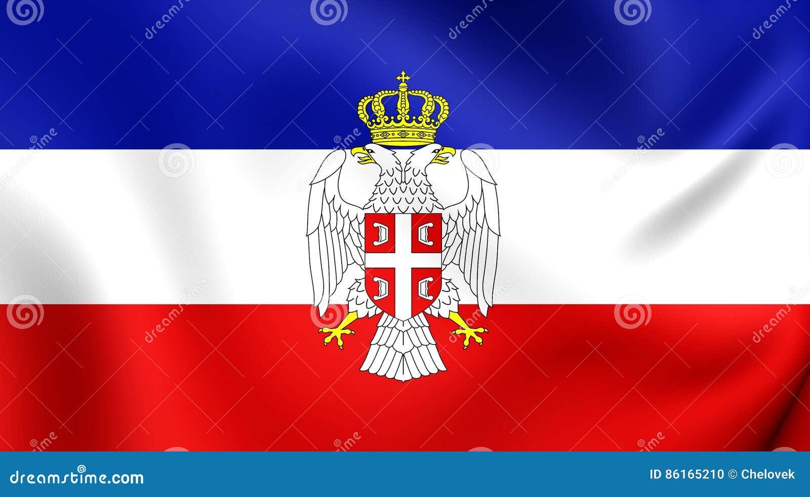Resultado de imagem para bandeira servia montenegro
