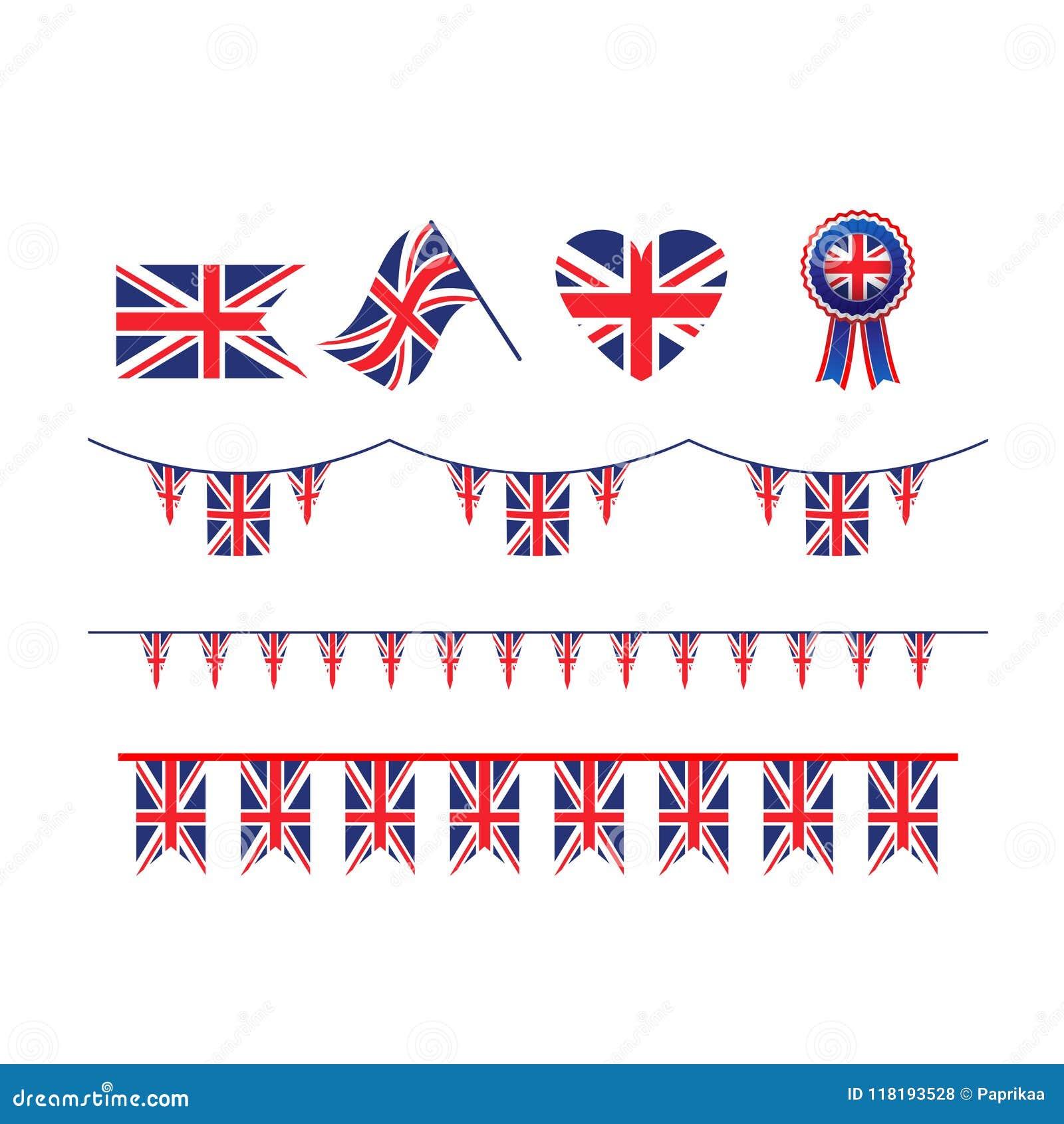 Bandeira de Union Jack do símbolo