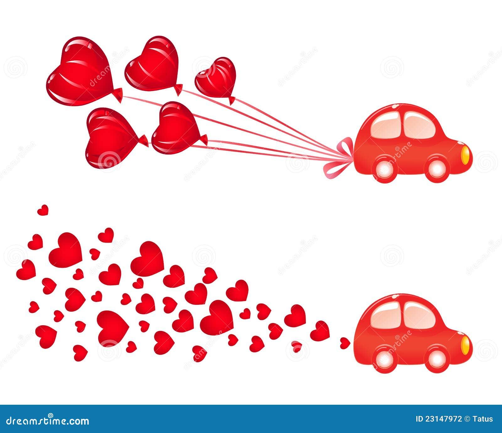 Bandeira de Valentin com carro