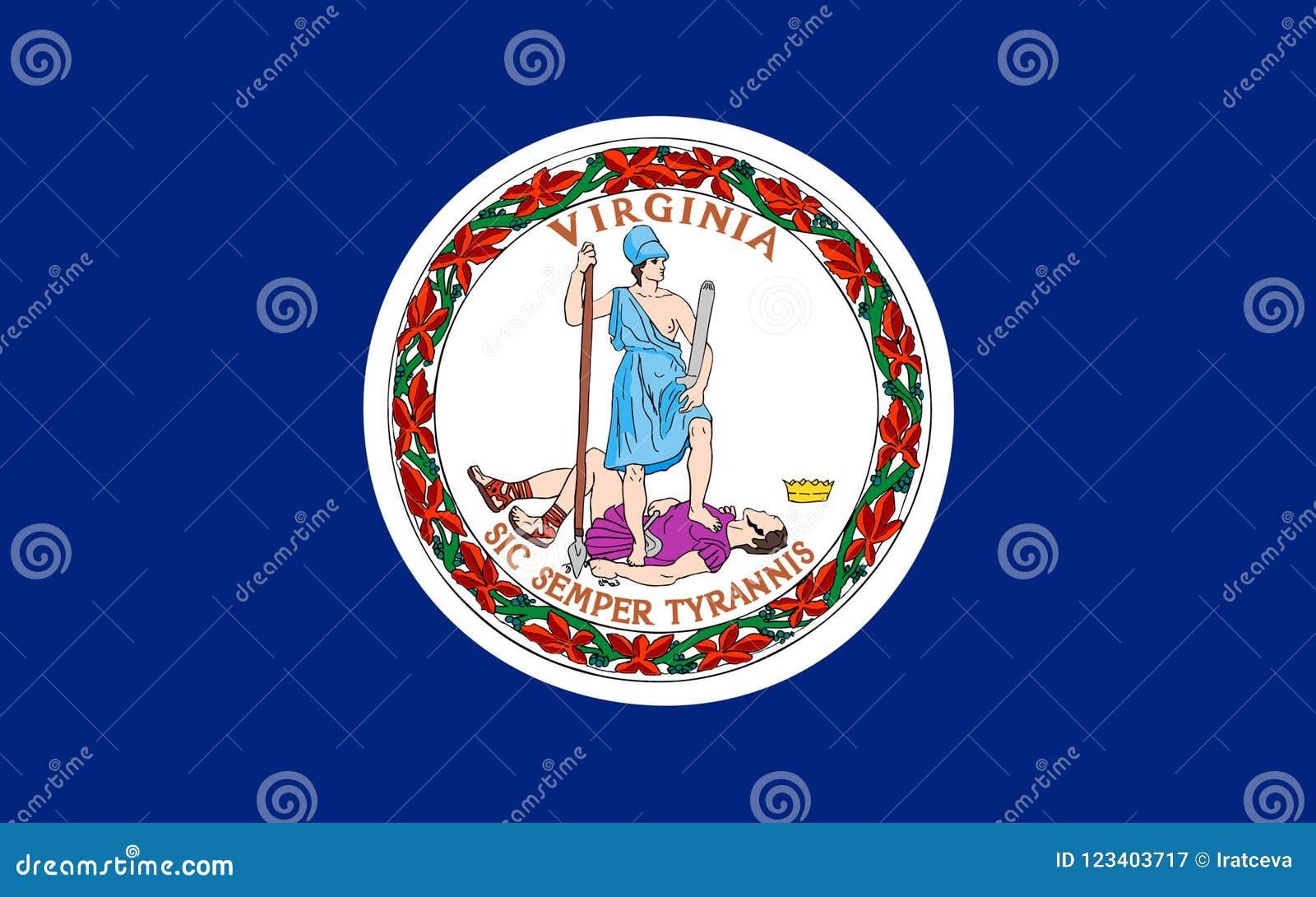 Bandeira de Virgínia, EUA
