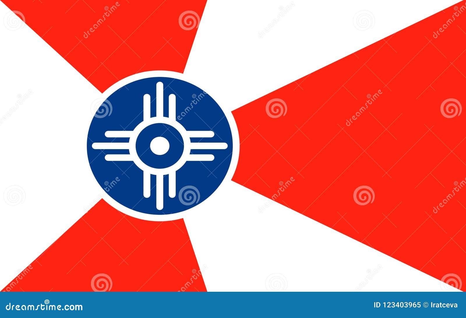 Bandeira de Wichita em Kansas, EUA