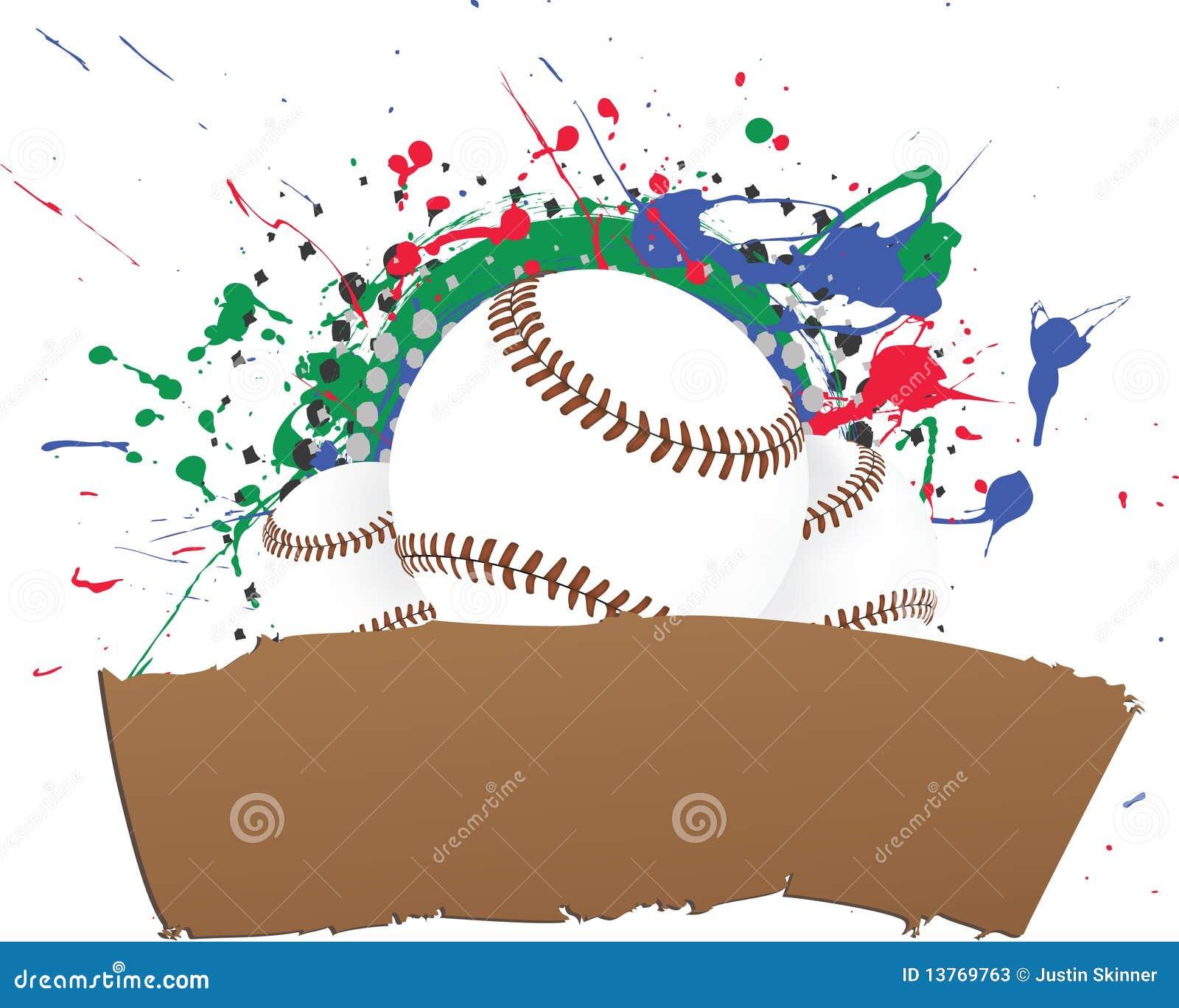 Bandeira do basebol de Grunge do vetor