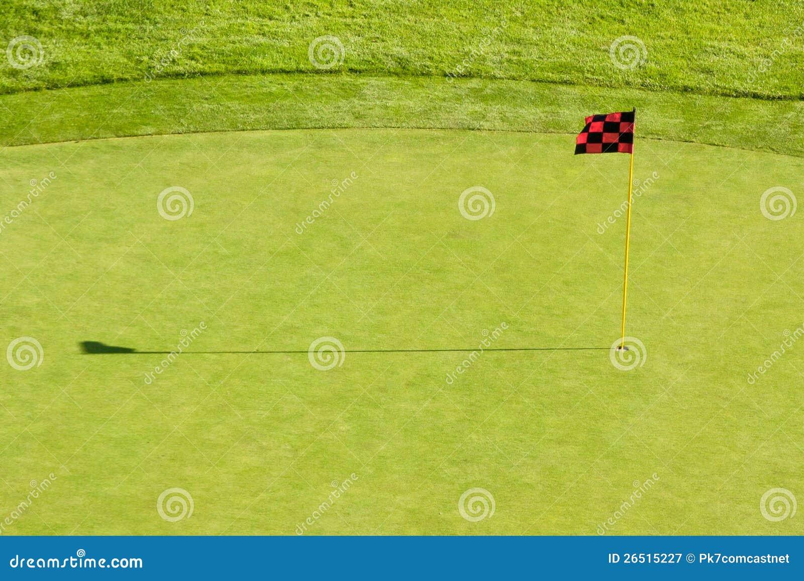 Bandeira do campo de golfe