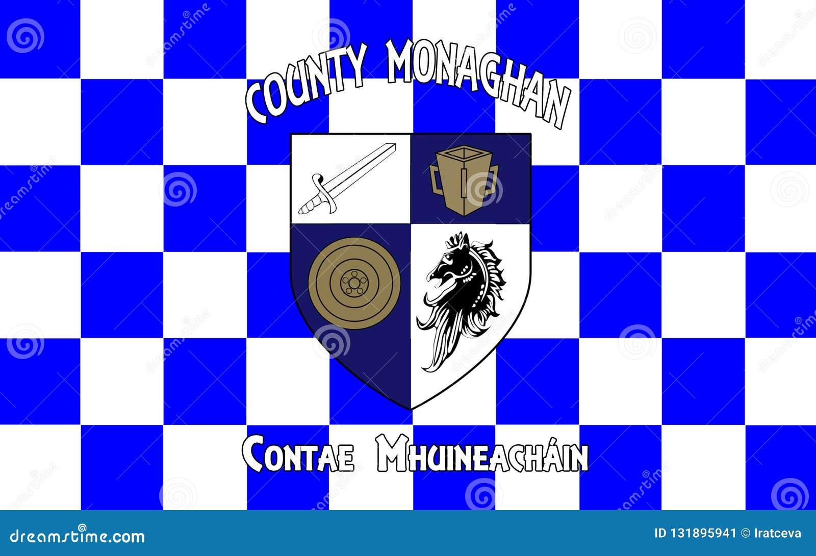 A bandeira do condado Monaghan é um condado na Irlanda