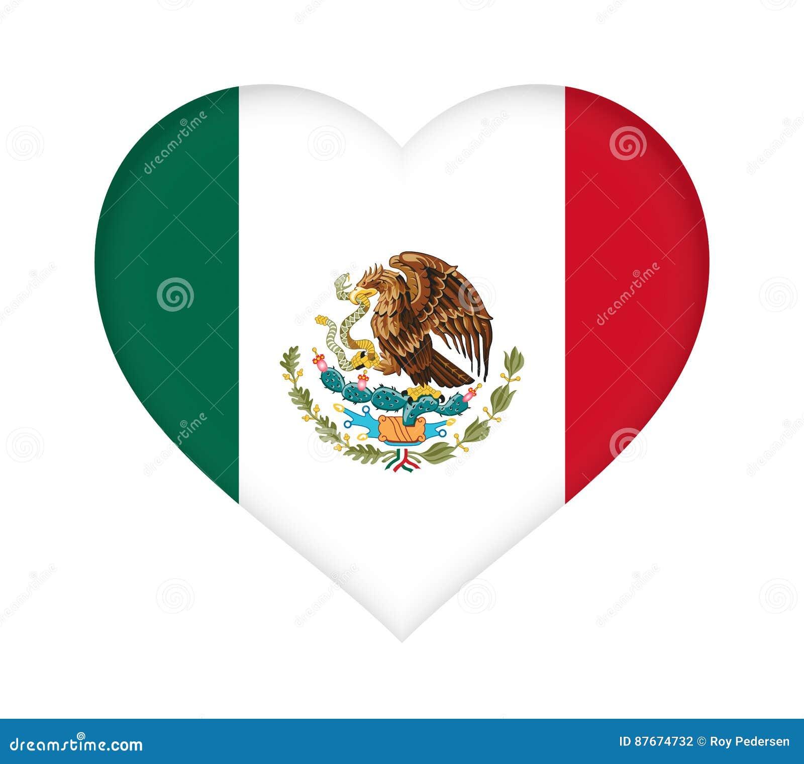 Bandeira do coração de México