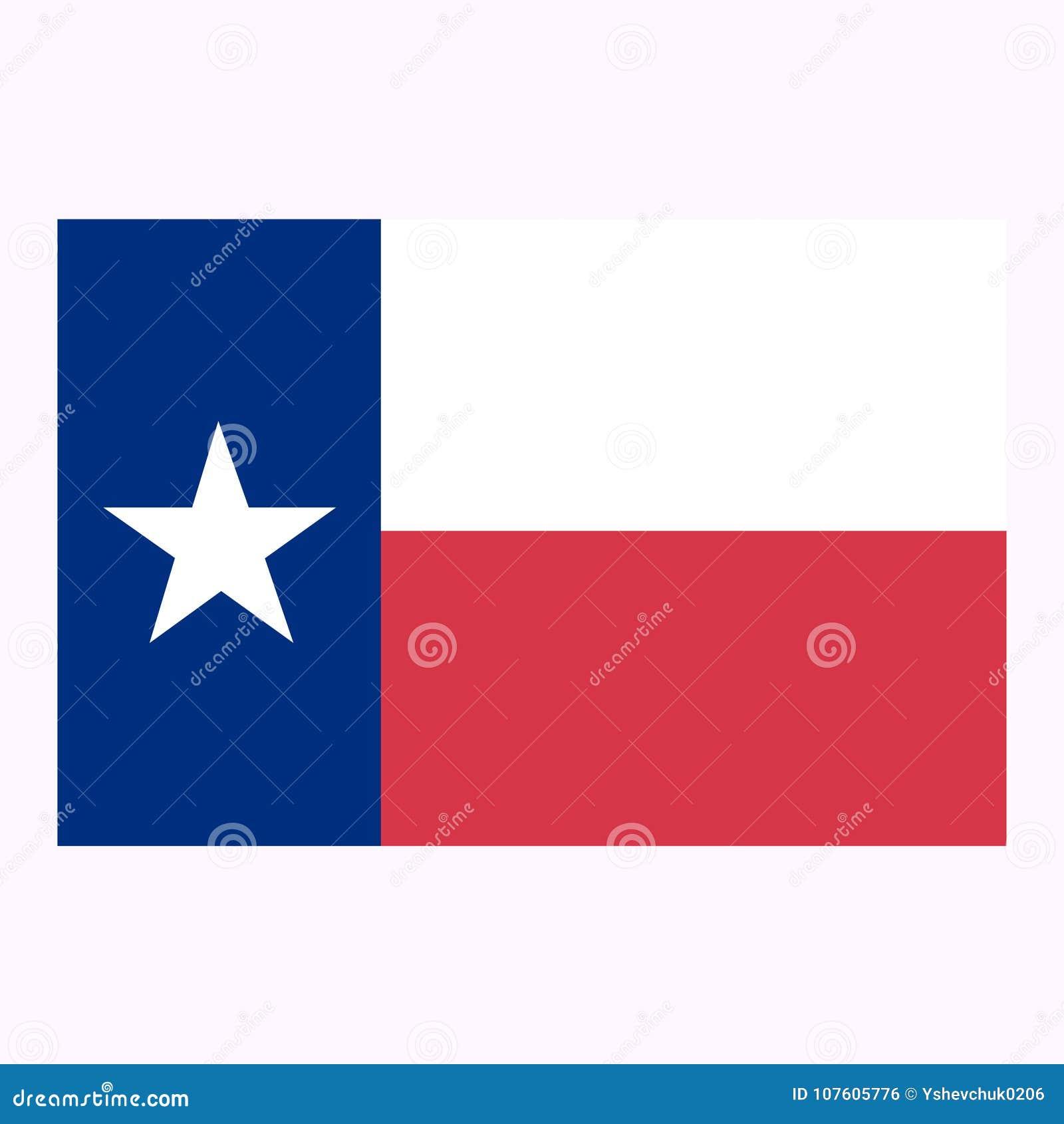 Bandeira do estado do Texas Ilustração do vetor