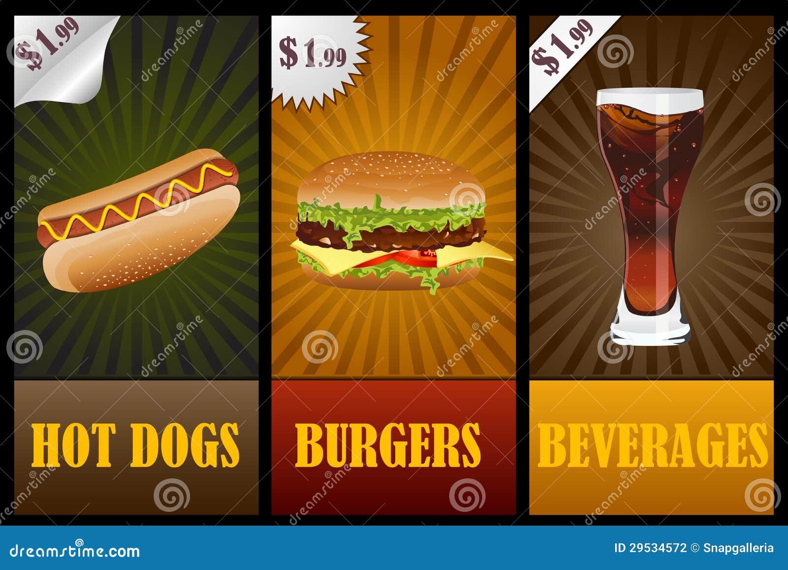 Bandeira do fast food