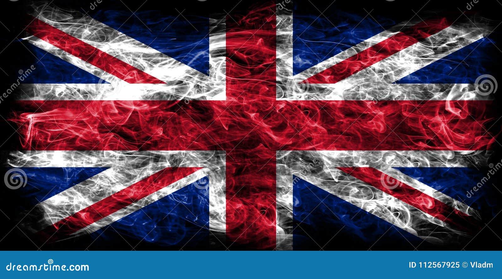 Bandeira do fumo de Reino Unido, bandeira de Union Jack