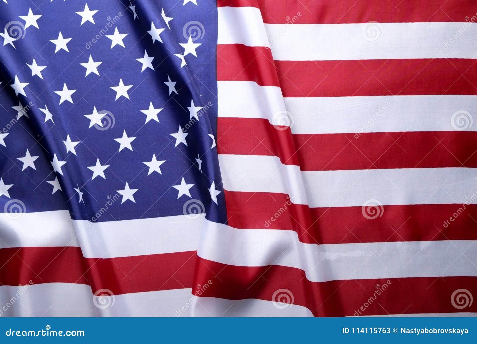 Bandeira do fundo do Estados Unidos da América para a celebração federal nacional dos feriados e o dia de lamentação da relembran
