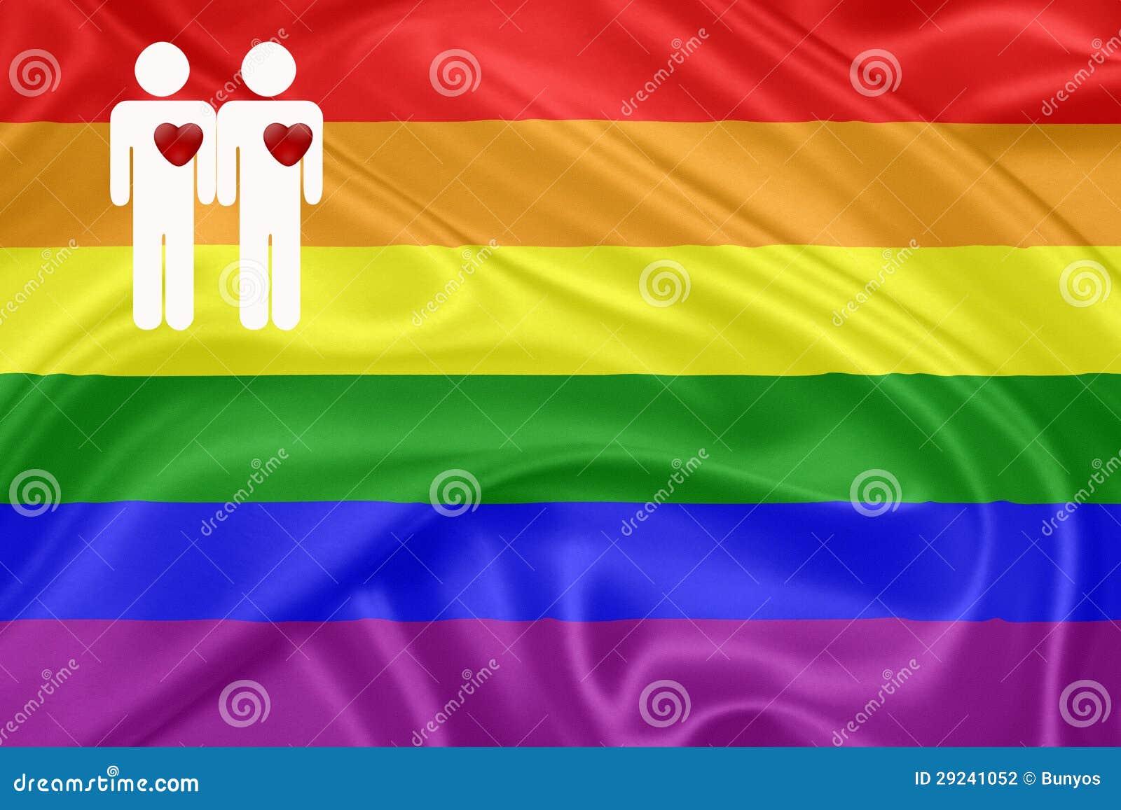 Download Bandeira Do Homossexual Do Arco-íris Ilustração Stock - Ilustração de democracia, civil: 29241052