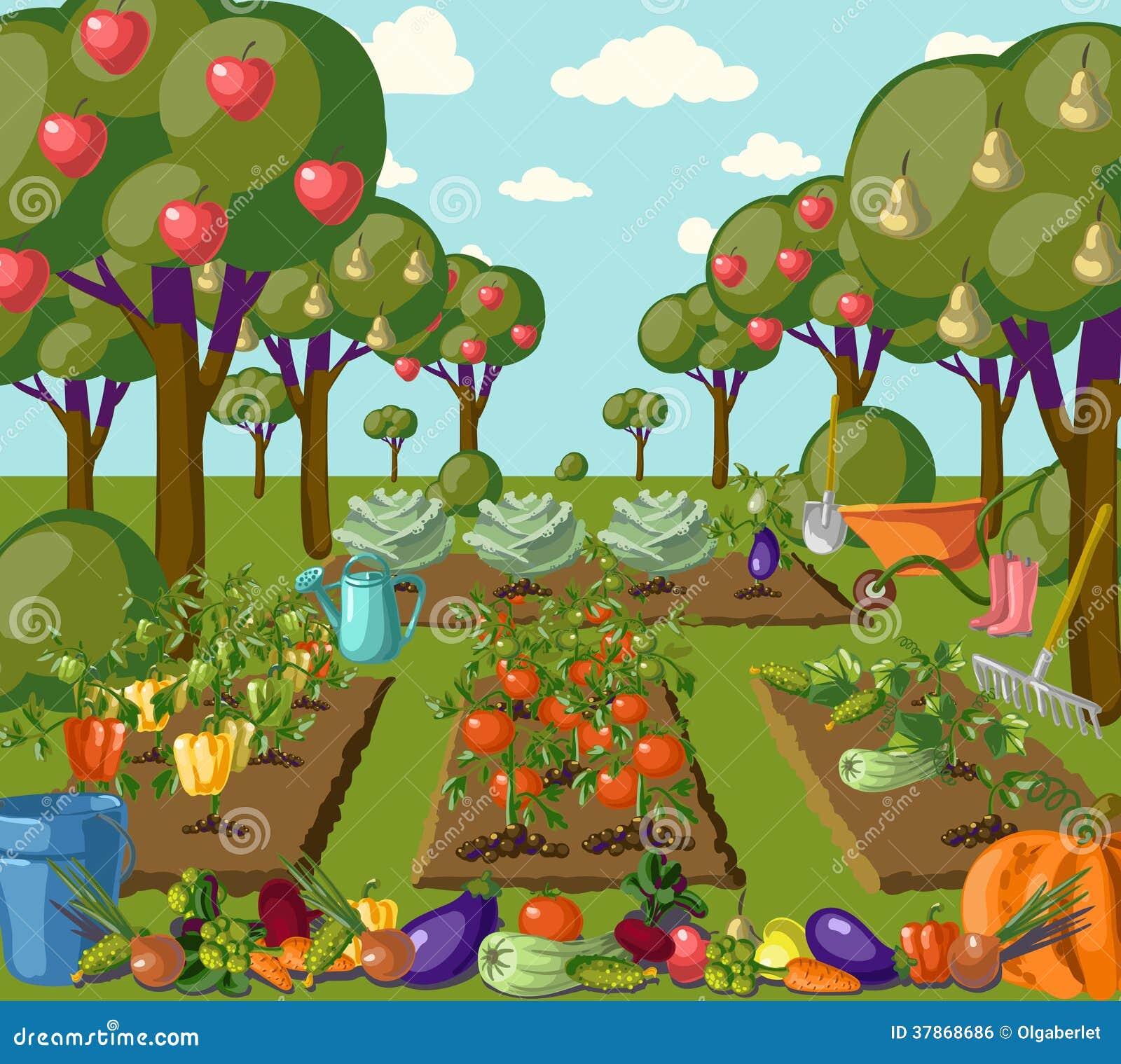 Bandeira do jardim do vintage com vegetarianos da raiz
