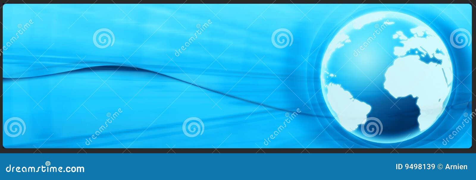 Bandeira do negócio e da tecnologia, encabeçamento